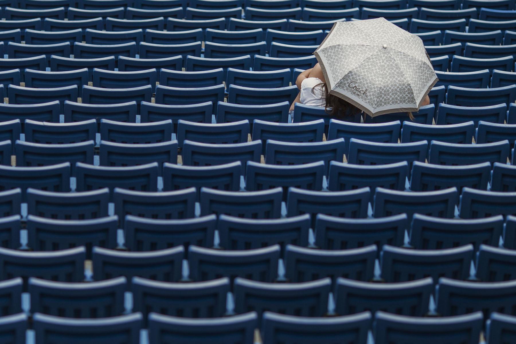 Rain at the Stadium