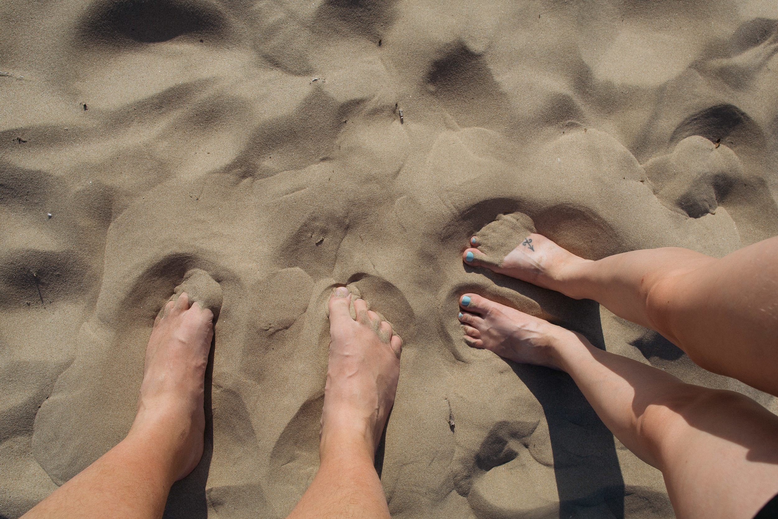 The best part about the sand here is how fine it is. It feels incredible on your feet.