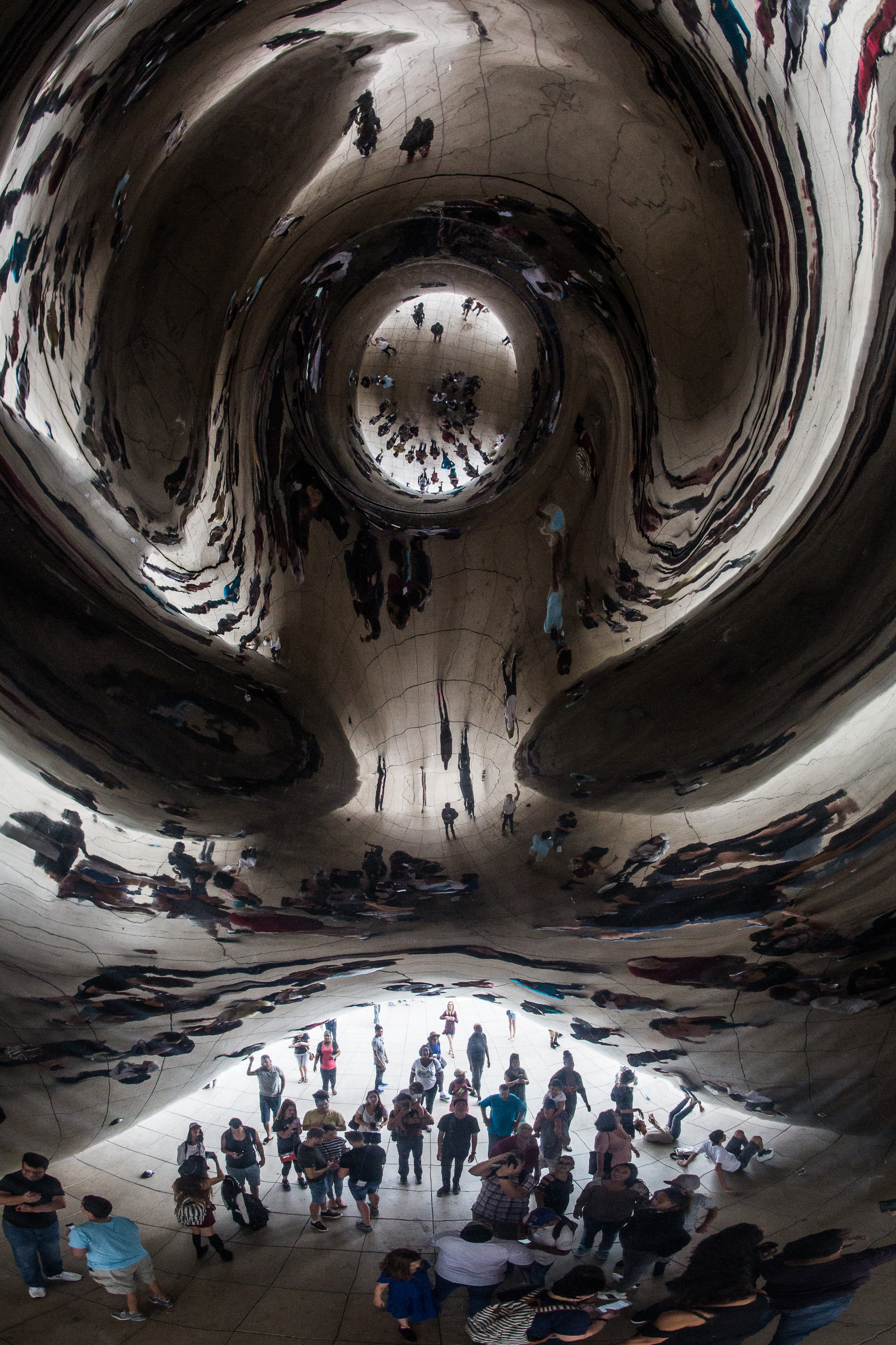 The view from under the 'bean'