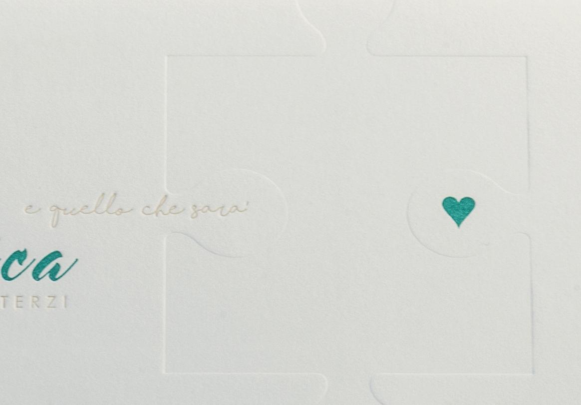 Carta Gmund 900 gr, stampa Letterpress a 3 colori