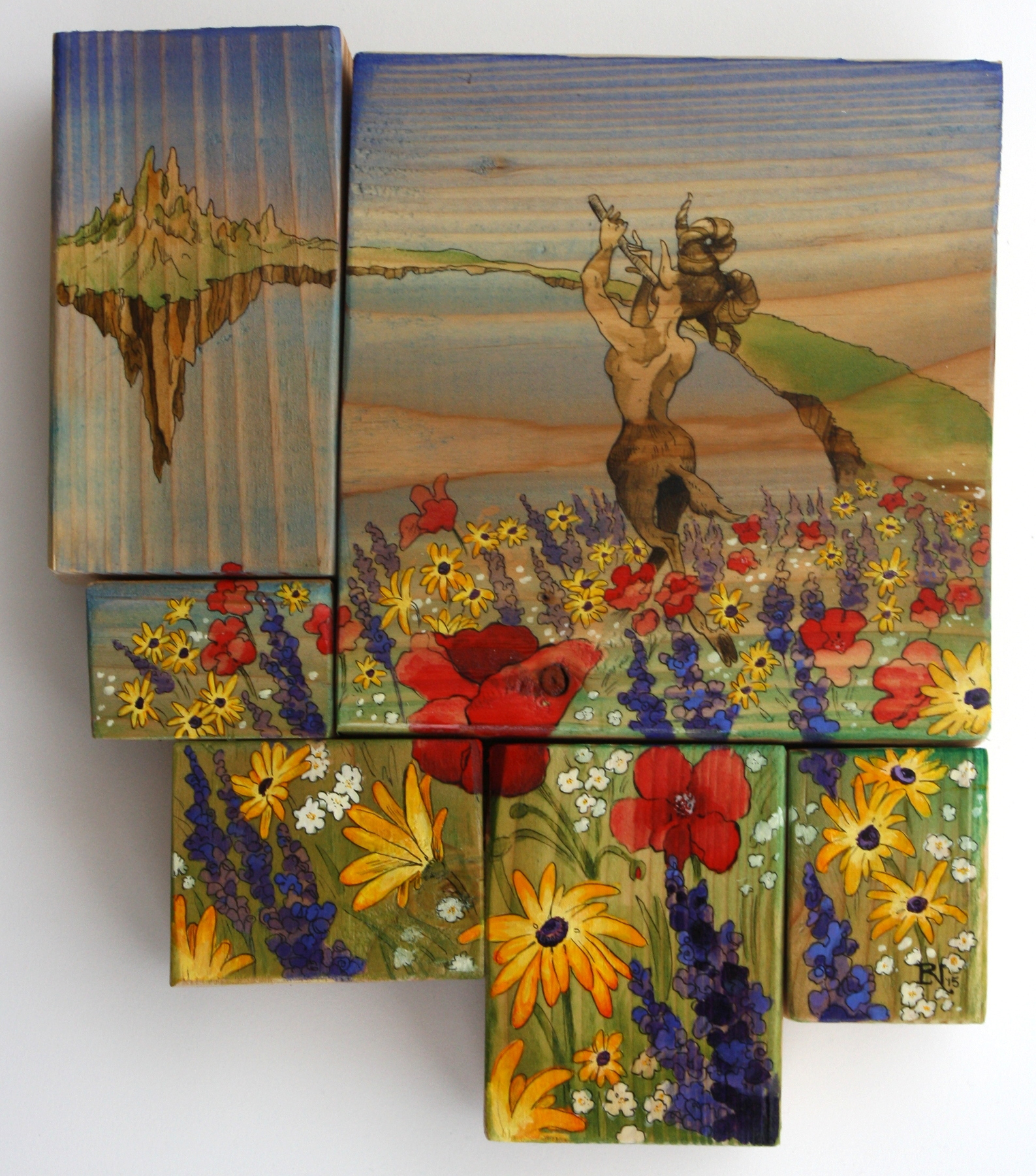 "The piece I auctioned off for the ZACC:  ""Where the Wildflowers Grow"""