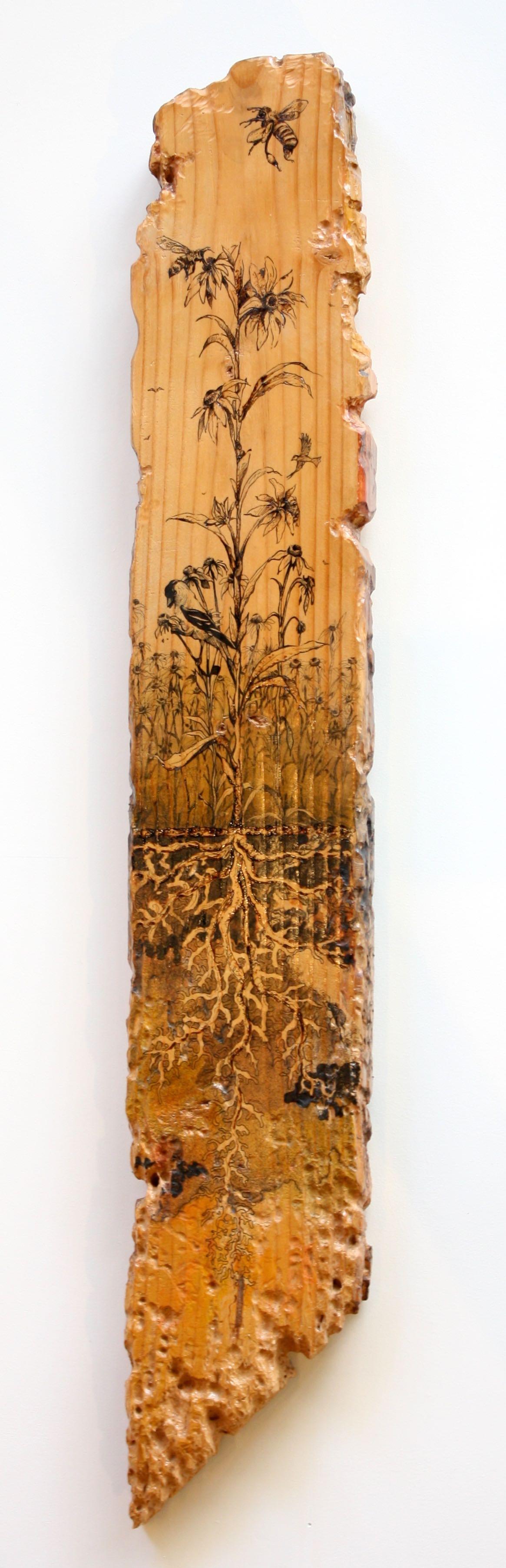 The Good Seed - 2014Acrylic ink/ pen/ woodburn on wood4