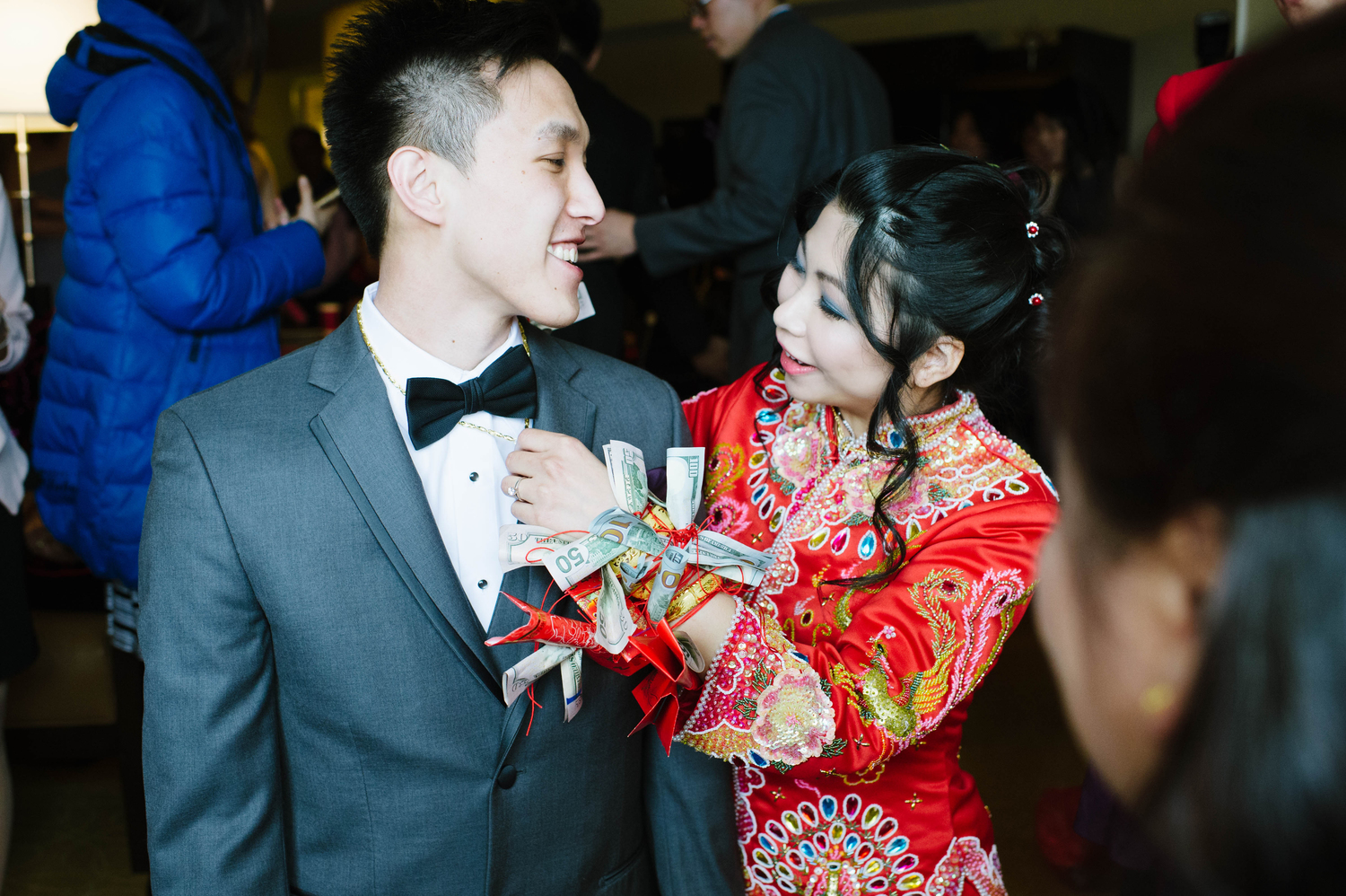 Kelly + Johnny during their Tea Ceremony at the  Marriott Hotel, Quincy