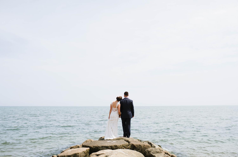 Lisa and Damon on their wedding day,  Pelham House Resort , Cape Cod