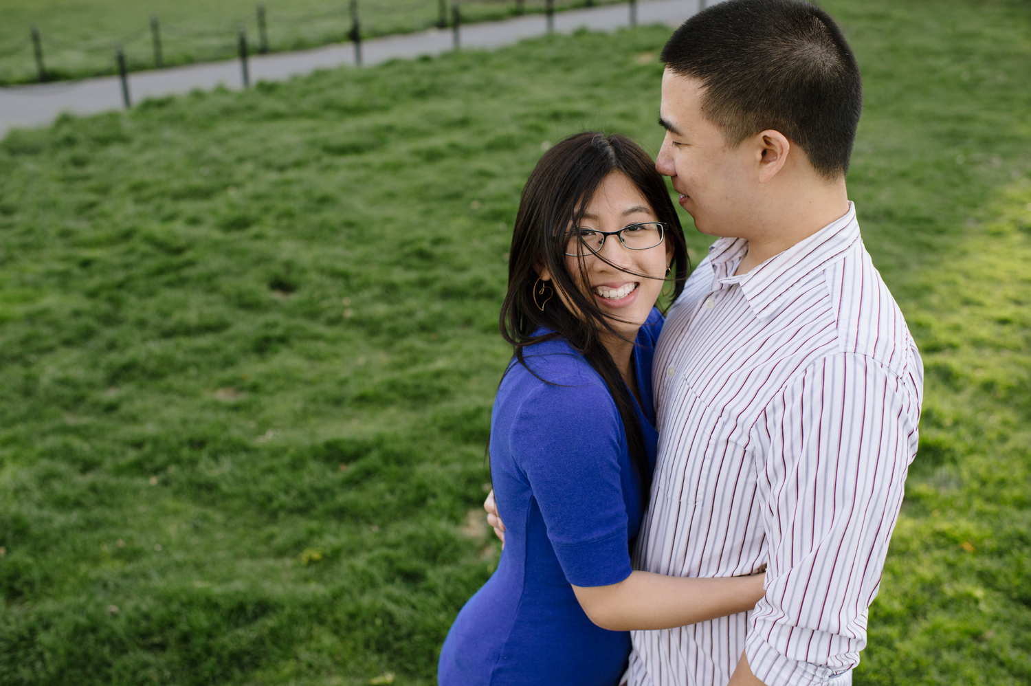 Josephine + Kevin at their engagement Shoot, Boston Common