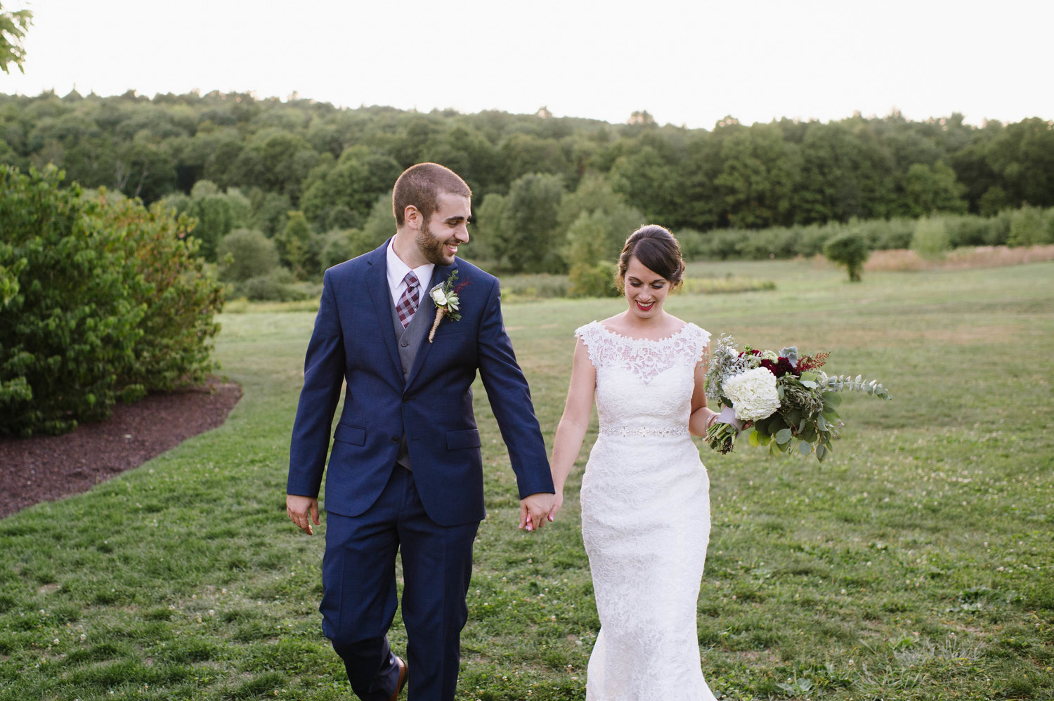LAURA + ZACH'S WEDDING DAY AT THE  QUONQUONT FARM , WHATELY, MA