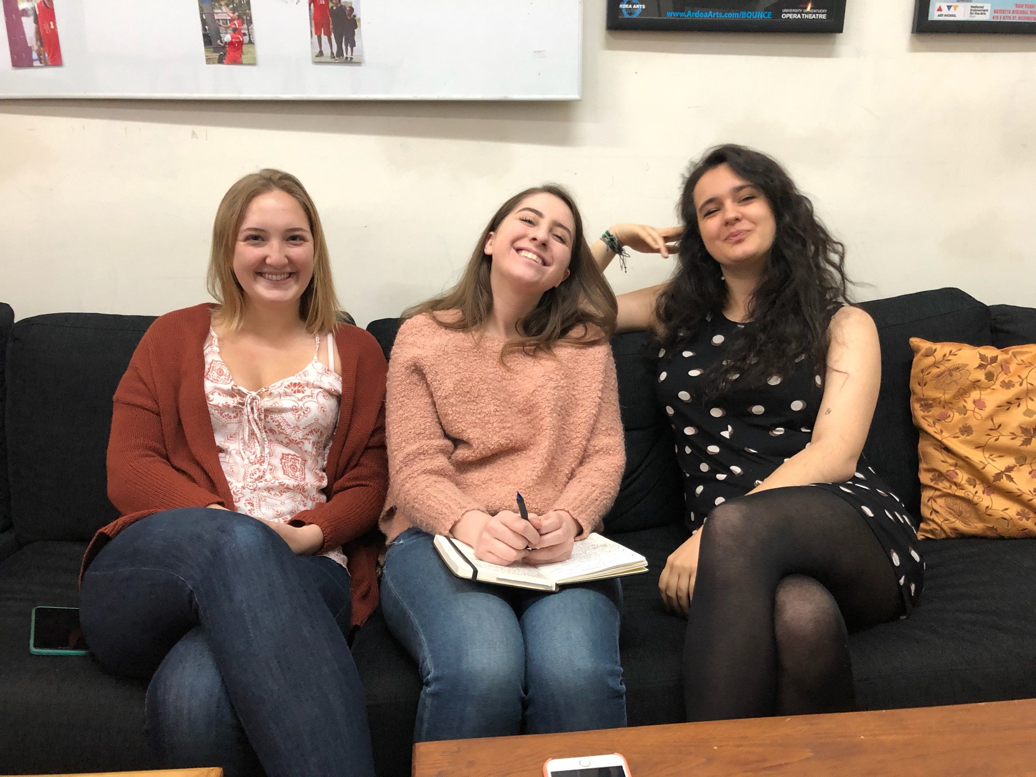 The Spring 2019 interns pose for a quick photo while listening to an important webinar to support our Summer and Fall BOUNCE NYC Courts Tour community program.