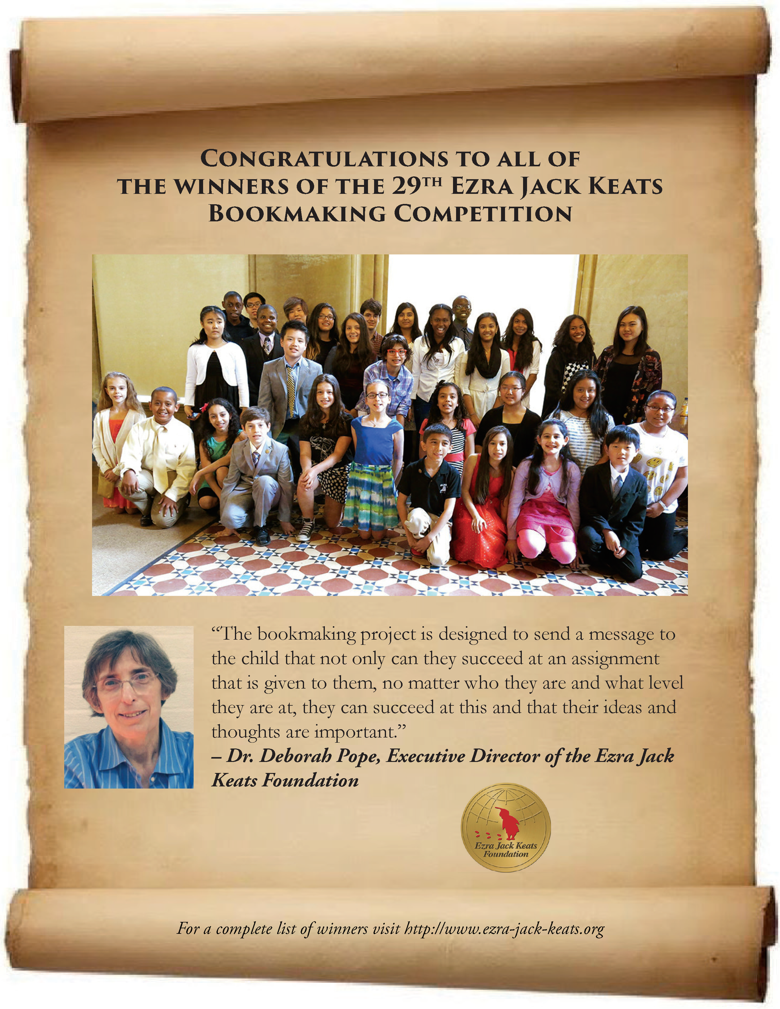 BROOKLYN AND QUEENS STUDENTS TAKE HOME TOP AWARDS AT THE 29TH ANNUAL EZRA JACK KEATS BOOKMAKING COMPETITION in OutlooK-12 Magazine