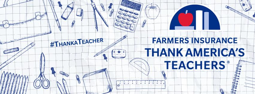 Photo Courtesy of Farmers Insurance Thank America's Teachers Facebook Page