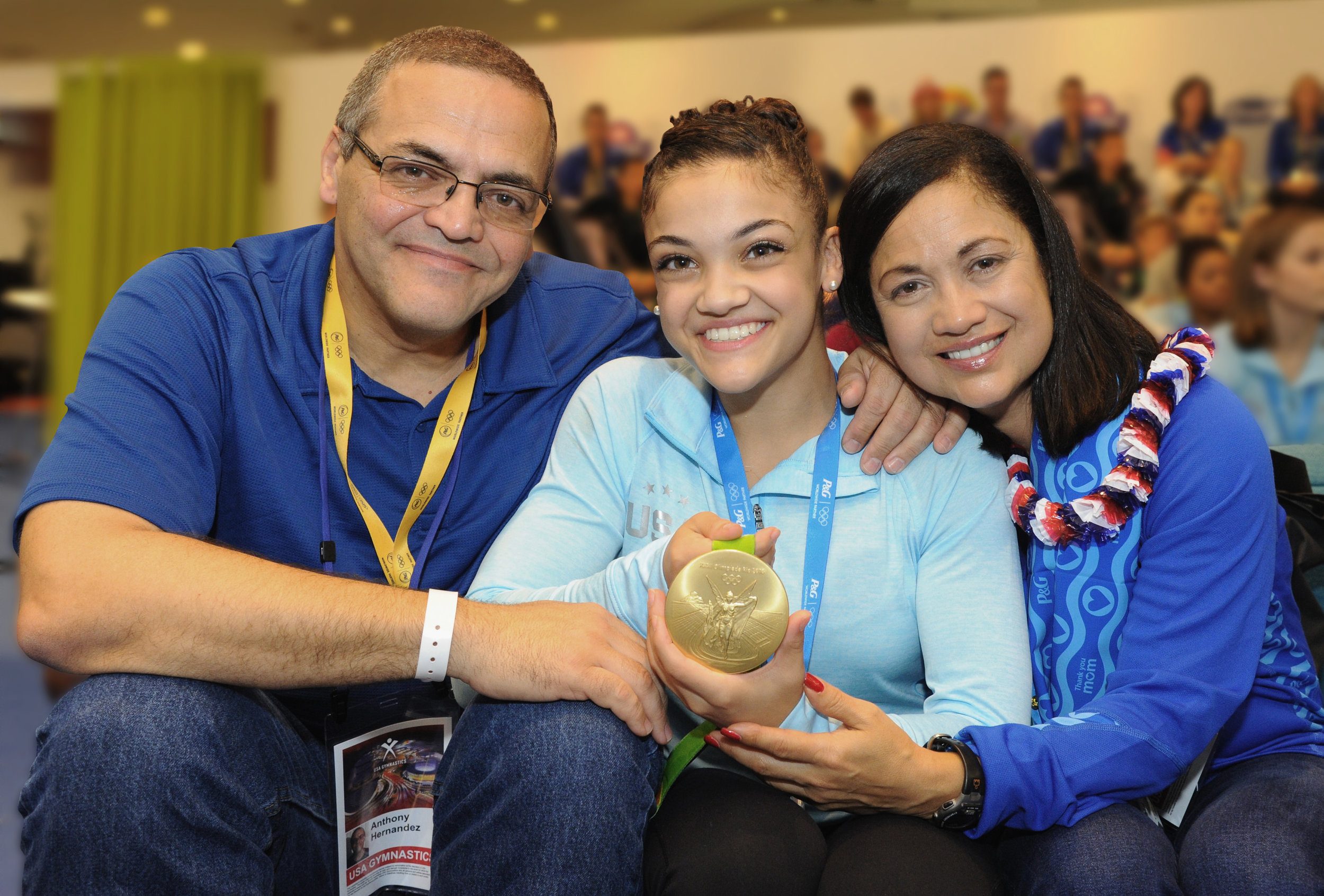 Laurie Hernandez, U.S. Olympic Gymnastics Champion, joins the P&G family as Crest® and Orgullosa ambassador. P&G,Worldwide Olympic Partner, also welcomes her mom, Wanda Hernandez, to the 'Thank You Mom' family.