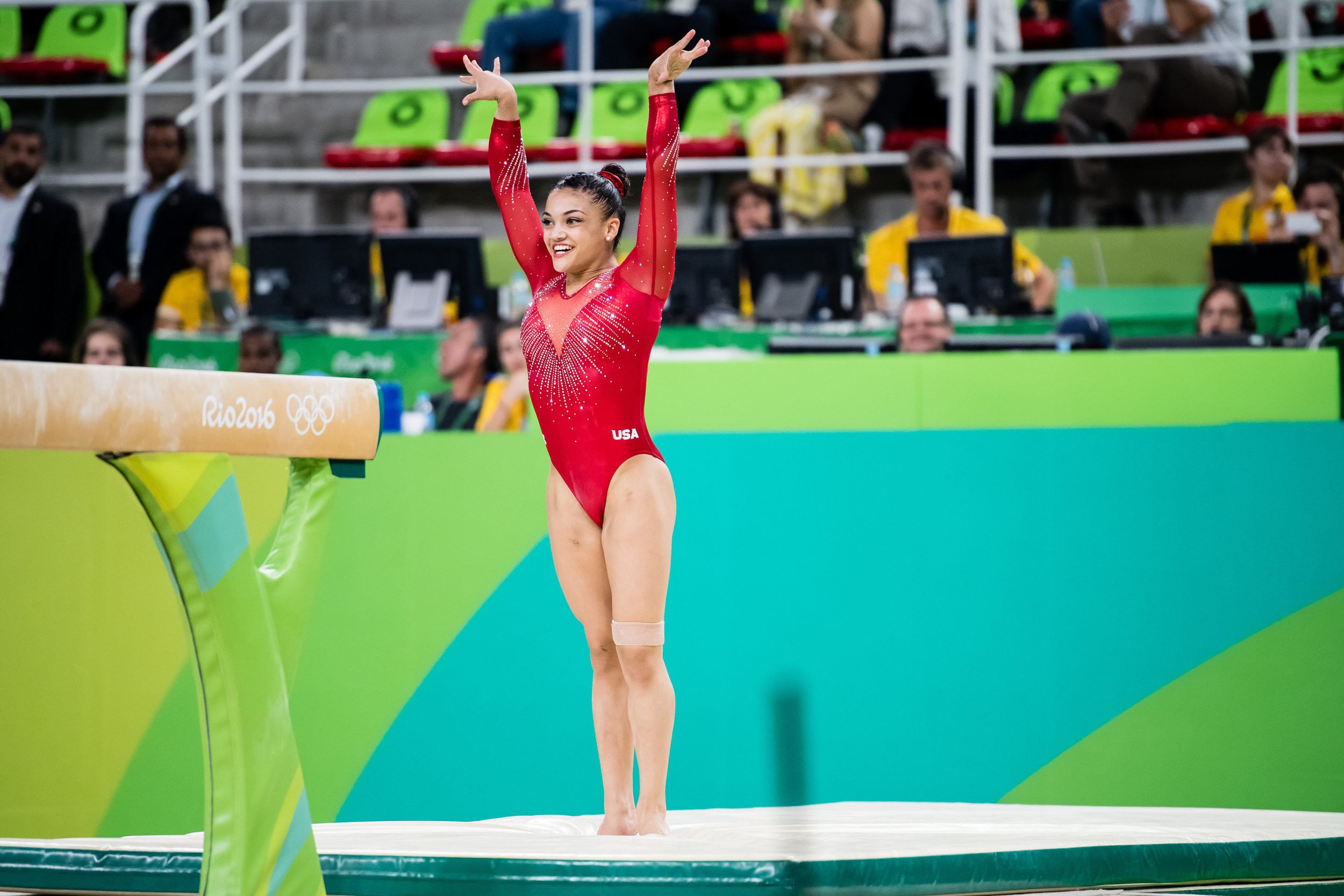 Laurie Hernandez, U.S. Olympic Gymnastics Champion, joins the P&G family as Crest® and Orgullosa ambassador.