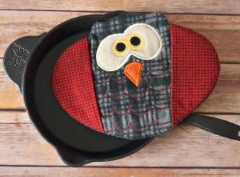 Sage Owl Oven Mitt