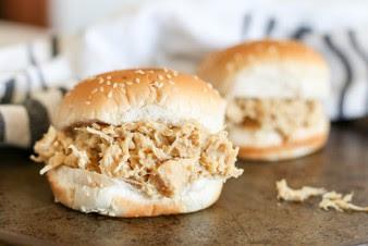 Shredded Chicken Sandwich in the Crockpot -
