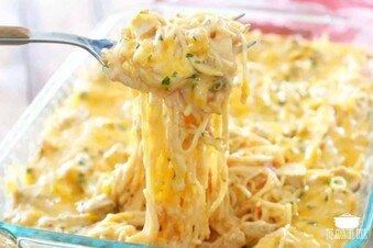 The Best Chicken Spaghetti -