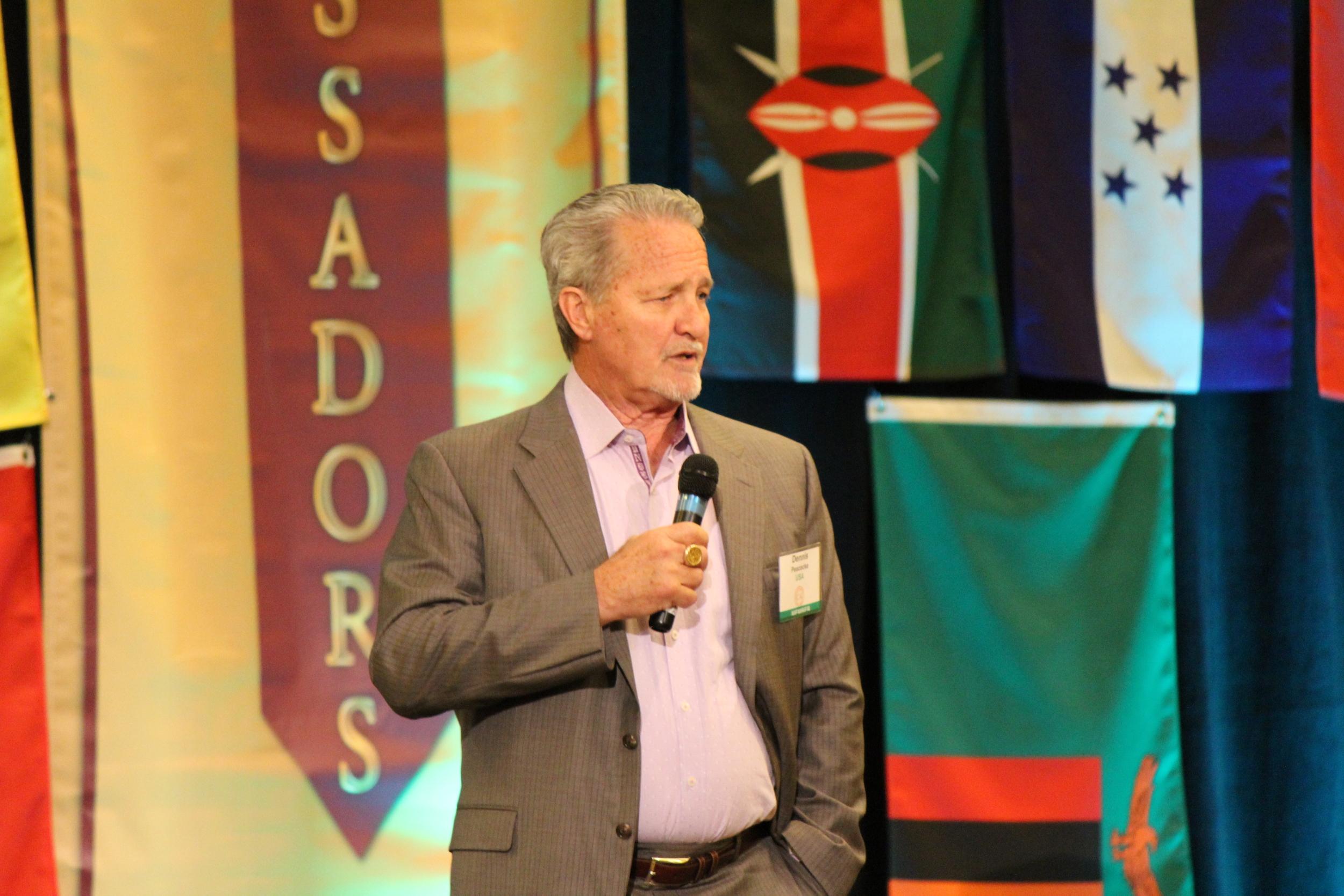 Dennis Peacocke speaking at 2015 ICAL Congress