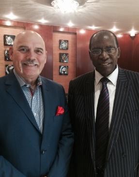 Dr. John Polis with Apostle Joe Kayo