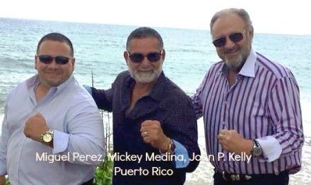 A. Miguel Perez, Mickey Medina, John P. Kelly in Puerto Rico.jpg