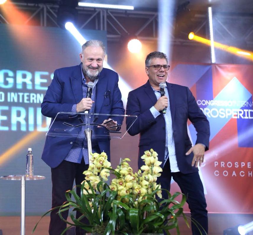 Apostle Kelly with Fabio Bertoni interpreting in Portuguese.