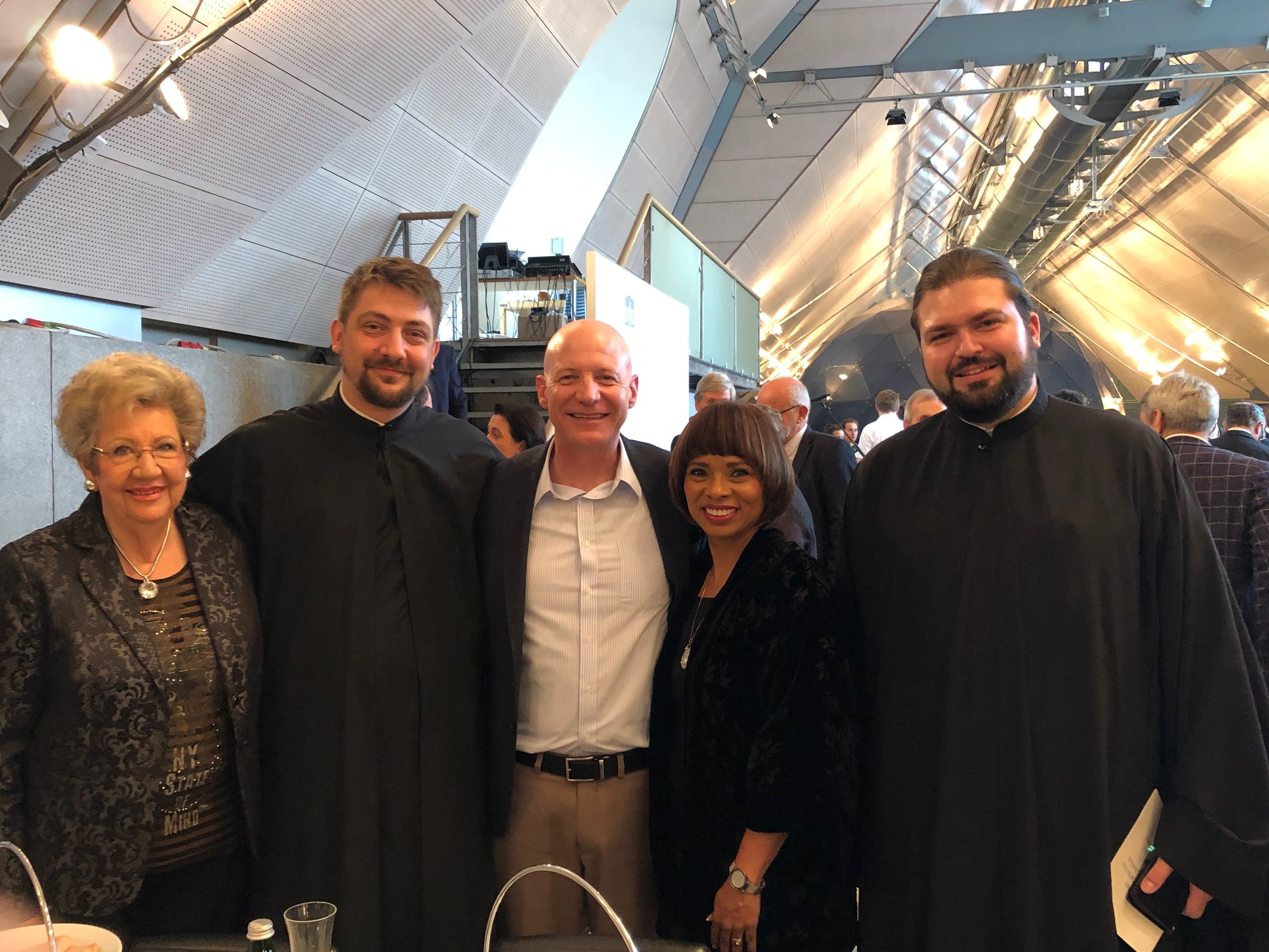 With our host Juliana Bosma and two Serbian Orthodox Priests at the Austrian National Prayer Breakfast