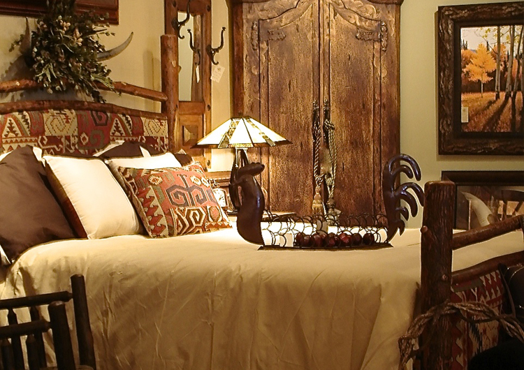 Hickory Upholstered Bed