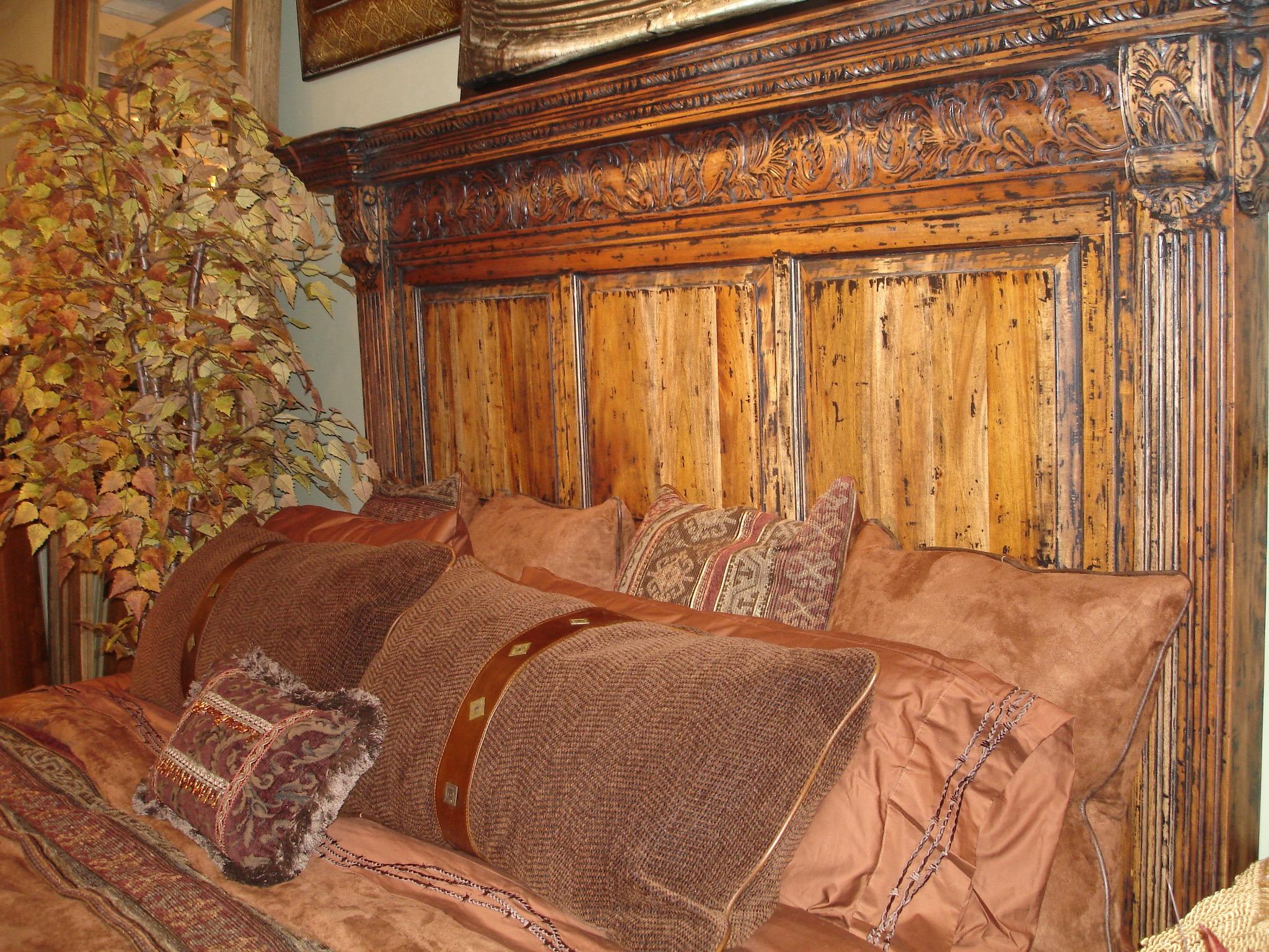 Mahogany Carved Platform Bed