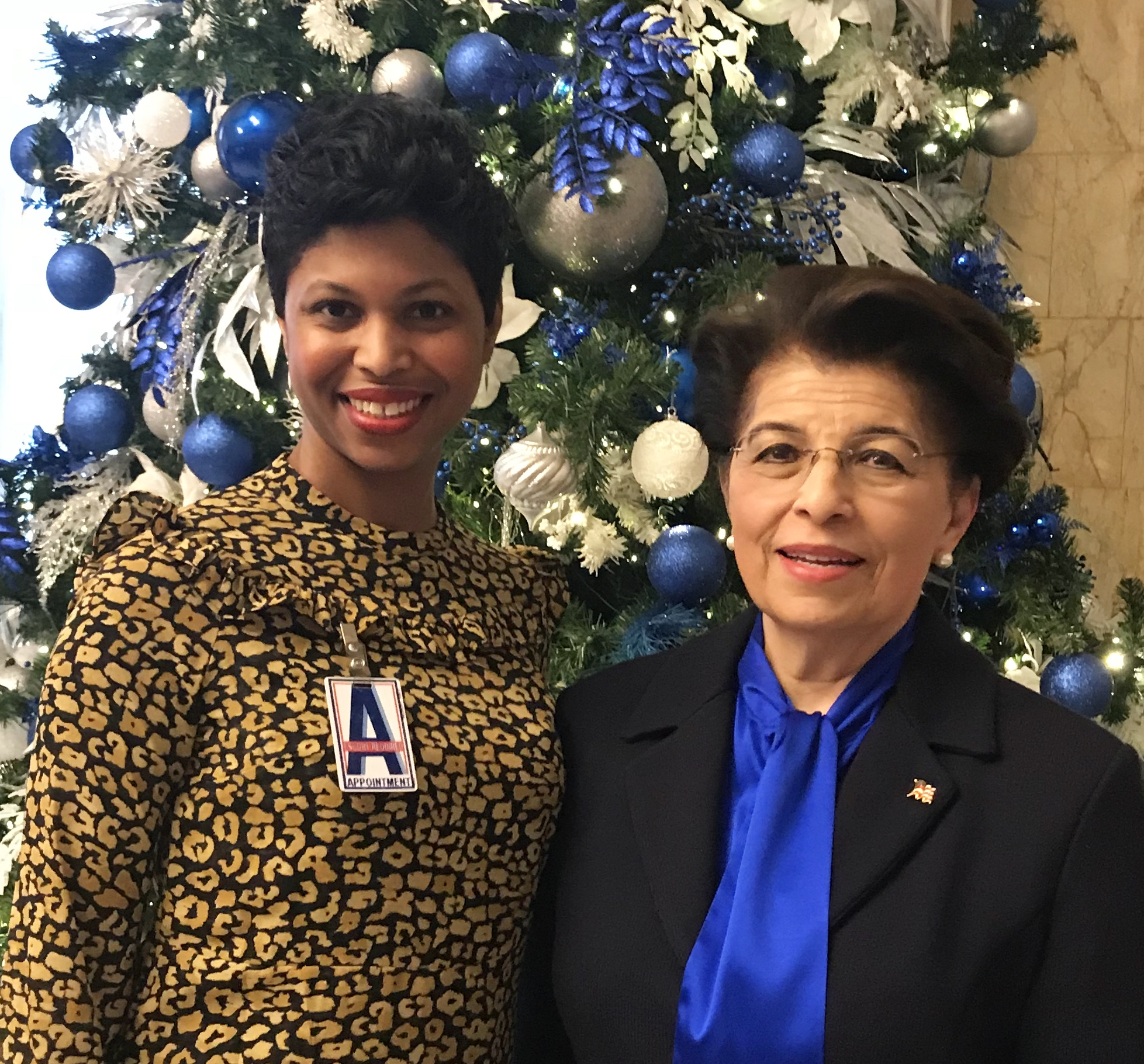 Dionne Nicholls, Program Director for Financially CLEAN and Treasurer Jovita Carranza at the FLEC Meeting December 16th, 2017