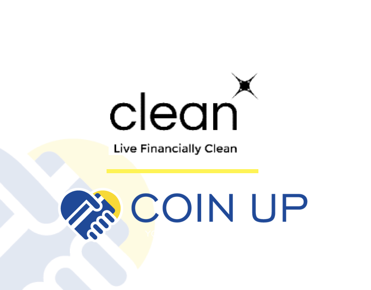 Donate Your Spare Change to CLEAN - CLEAN has partnered with Coin Up to allow contributors to easily donate to our cause. Simply follow these steps:(1) Download the free Coin Up App(2) Select Financially CLEAN as your charity of choice(3) Link your bank/credit card and set a monthly limitwatch spare change from your everyday purchases make big change for financial literacy!