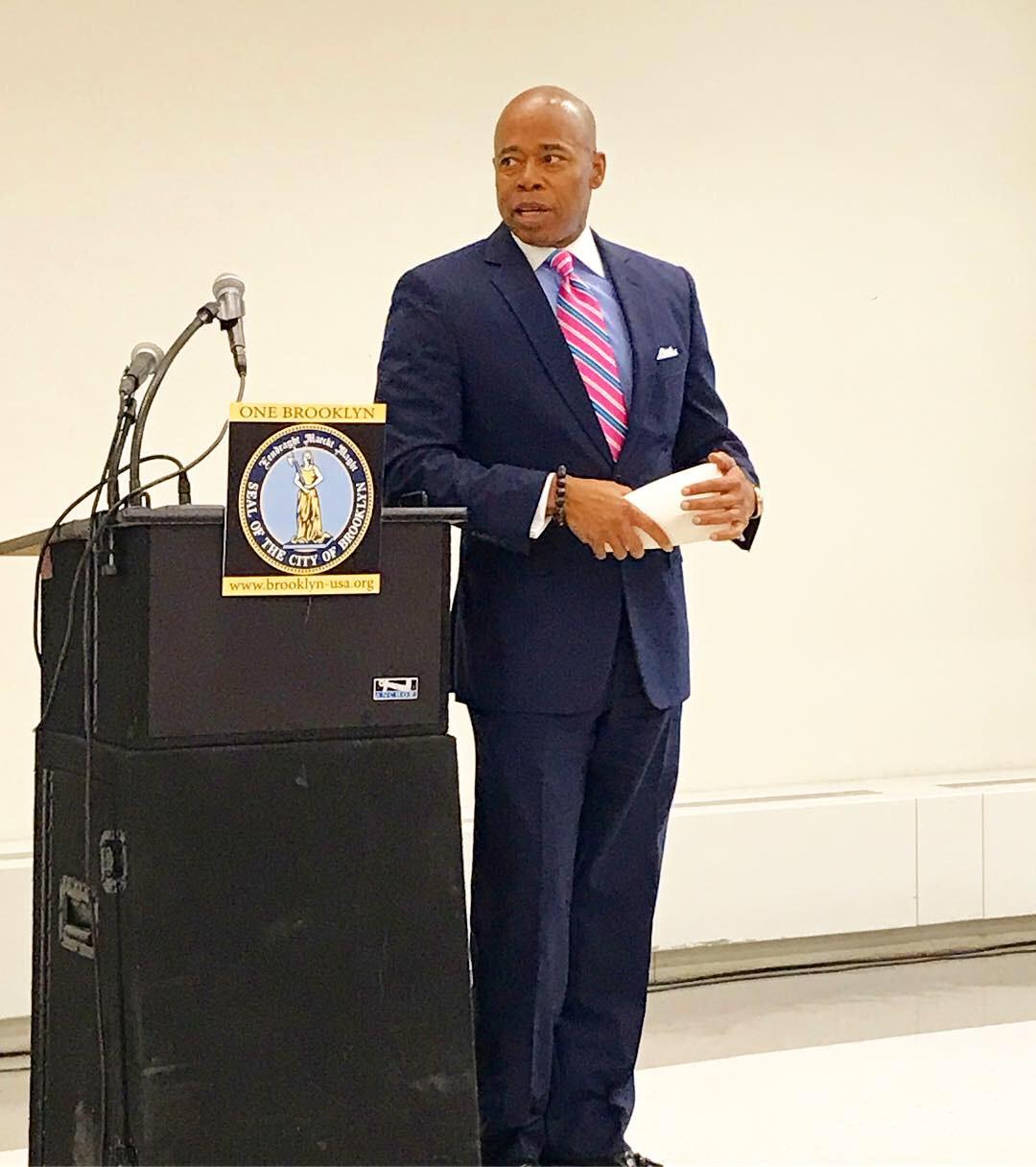 Brooklyn Borough President Eric L. Adams