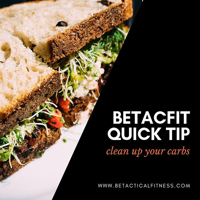 BETACFIT QUICK TIP // Heads up! Your body needs carbs! We all need a different amount, but the trick is choosing the RIGHT ones for your body, goals, and health. Head over to our website to read this months article about how to quickly clean up YOUR carbs for better results. . . To gain access to our fitness and nutrition resources, register for our FREE membership at www.betacticalfitness.com [link in bio]. . . . . #betacfit #thinblueline #thinredline #policefitness #firefighterfitness #militaryfitness #police #firefighter #military #firstresponder #fitness #nutritiontips #healthtips #lawenforcement #dispatcher #paramedic #healthylifestyle #healthyeating #workoutmotivation #fitinspo #mealprep #shiftwork #survival #fitnessmotivation #workoutideas #carbs #cleaneating #healthycarbs #mealplan