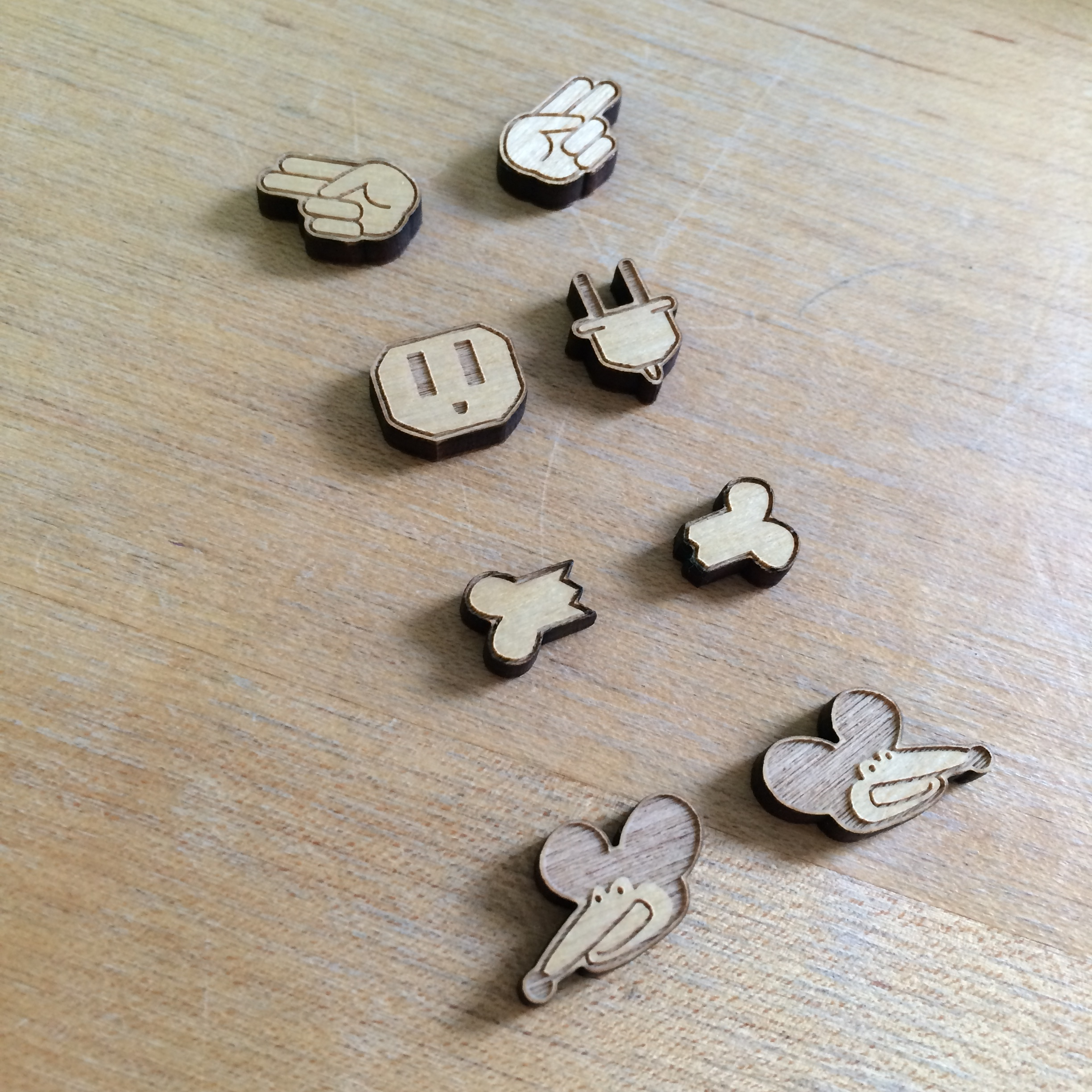Laser etched wooden earrings