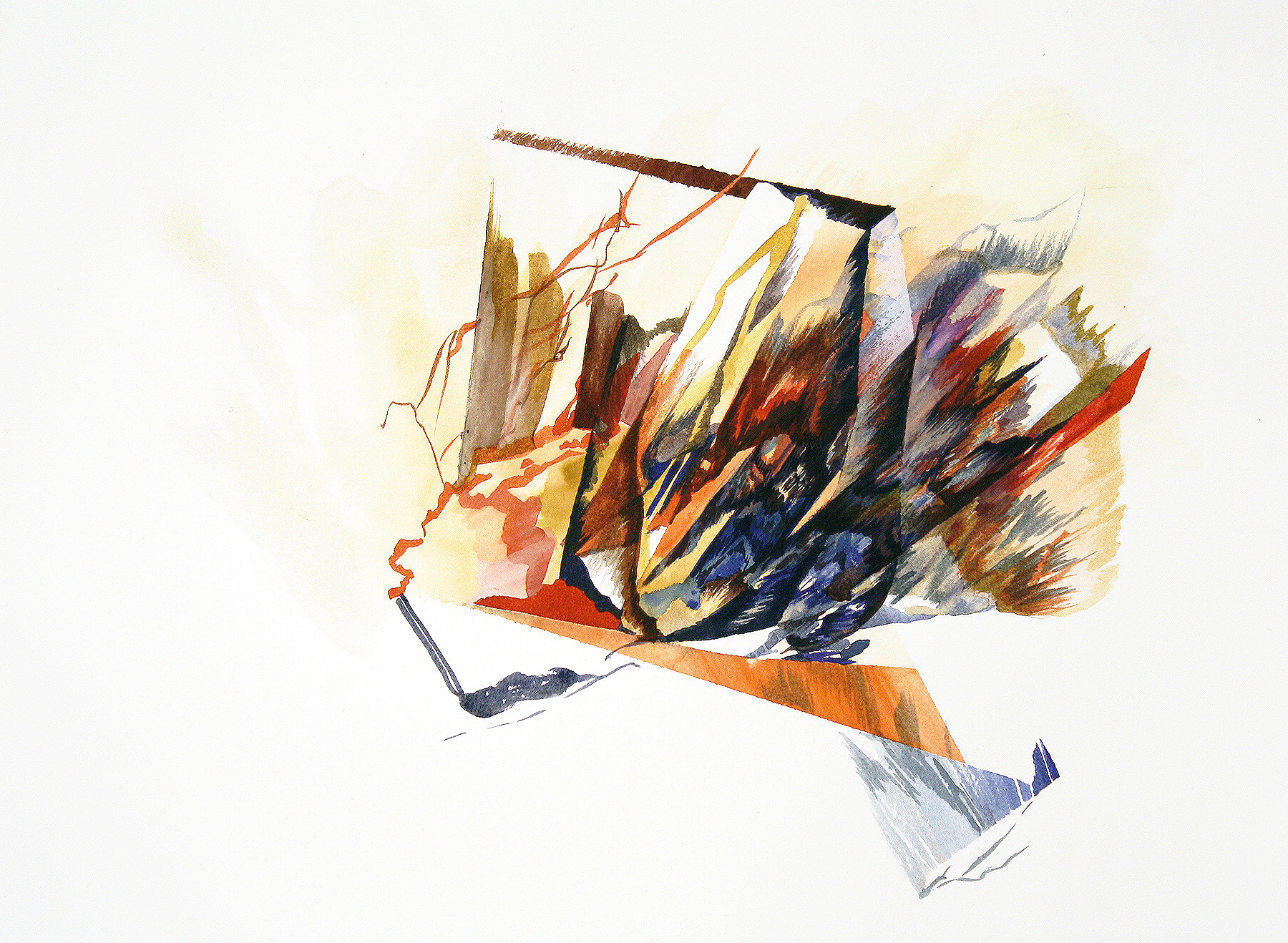 """Velocity Major     watercolour and ink on paper  11"""" x 15"""""""