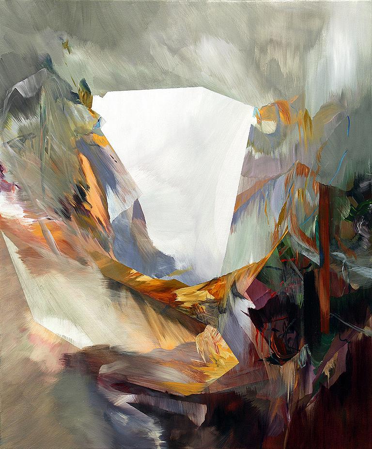 """Crucible     acrylic on canvas  43"""" x 36"""""""