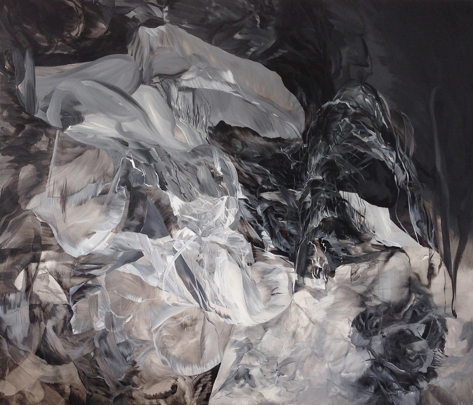 """The Conundrum of Consequence     acrylic on canvas  72"""" x 84"""""""