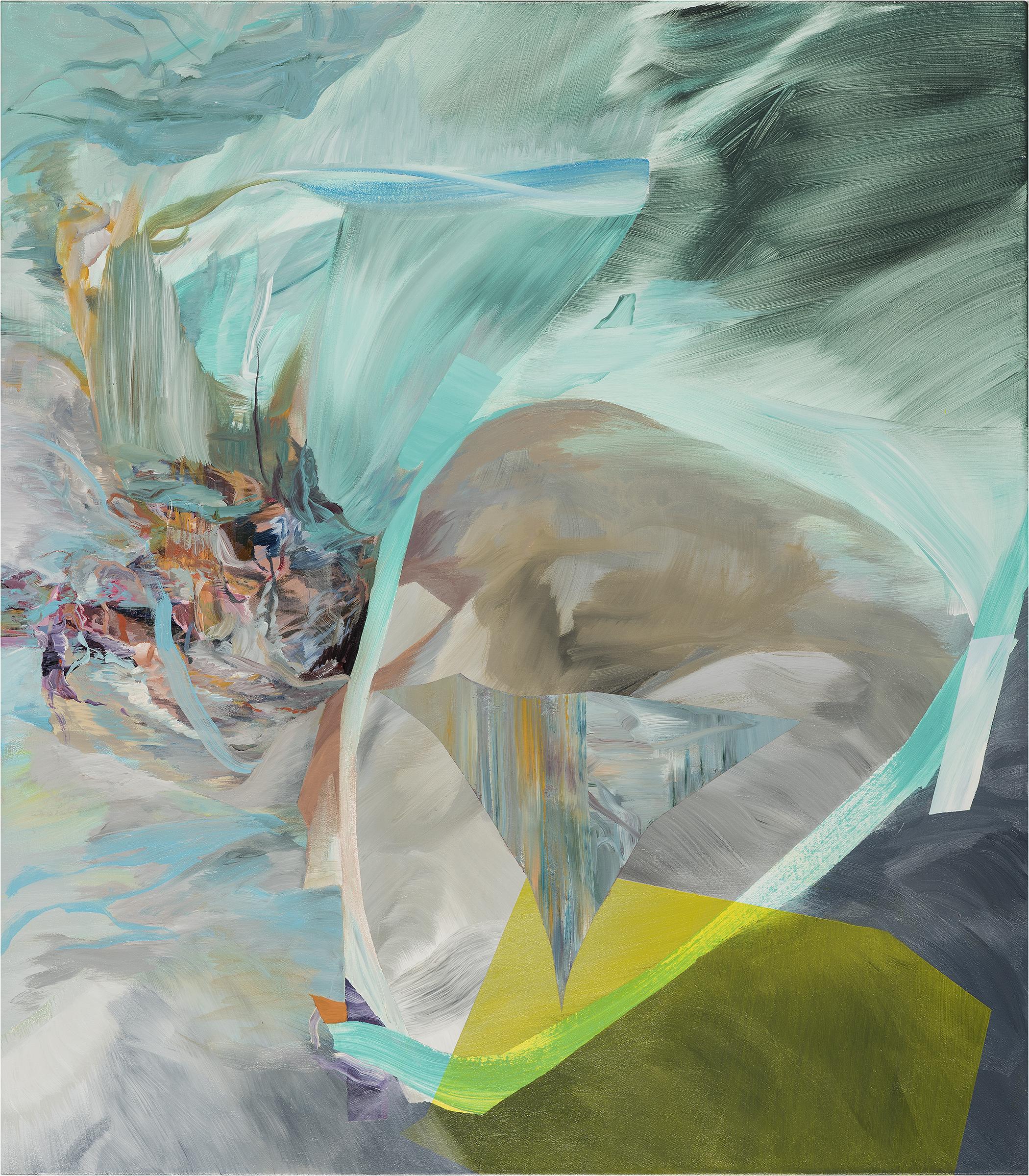 """Thief's Sun    acrylic on canvas  41"""" x 36"""""""