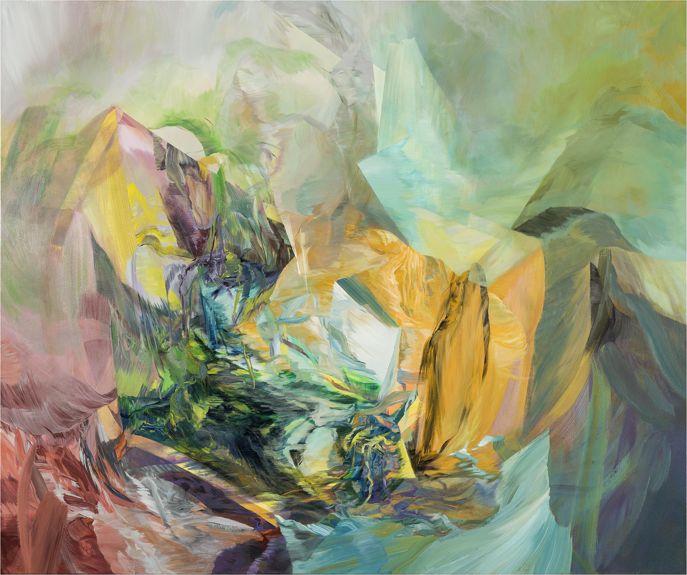 "Beneath the Spin Light     acrylic on canvas  60"" x 72"""
