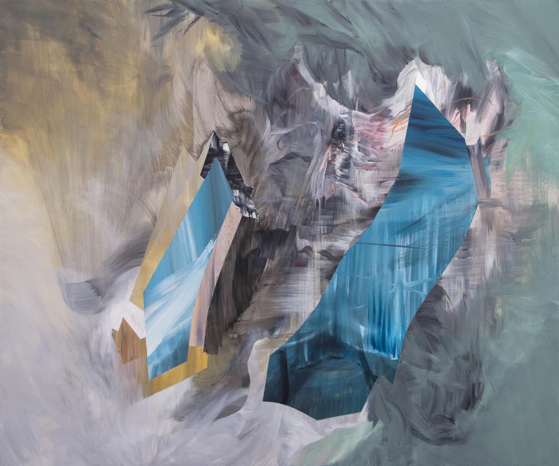 """Hybrid , acrylic on canvas, 60"""" x 72"""", 2014"""