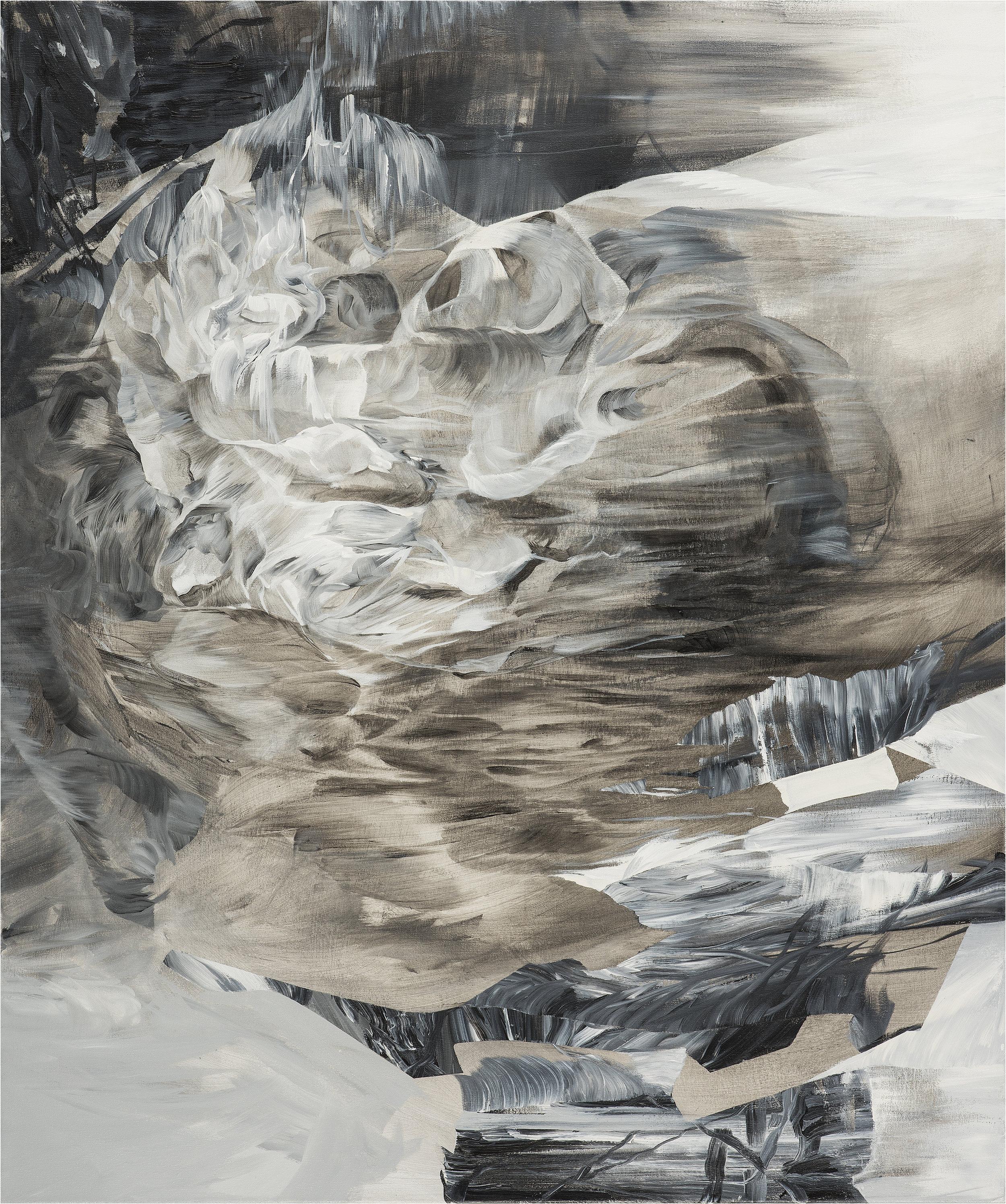"Altar - Triptych   (left side)   acrylic on canvas  43"" x 36"""