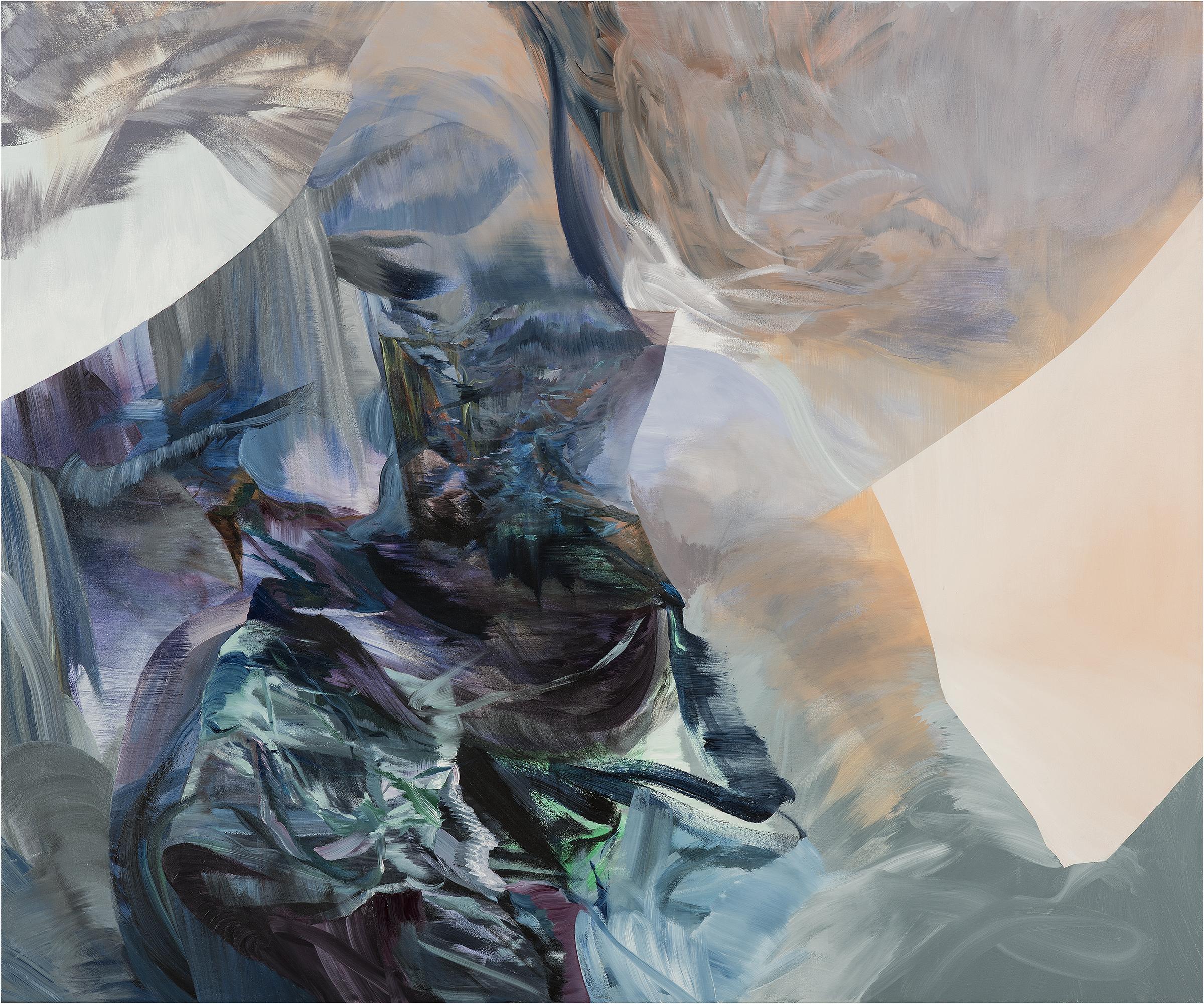 "Paper Eye,  acrylic on canvas, 60"" x 72"", 2016"
