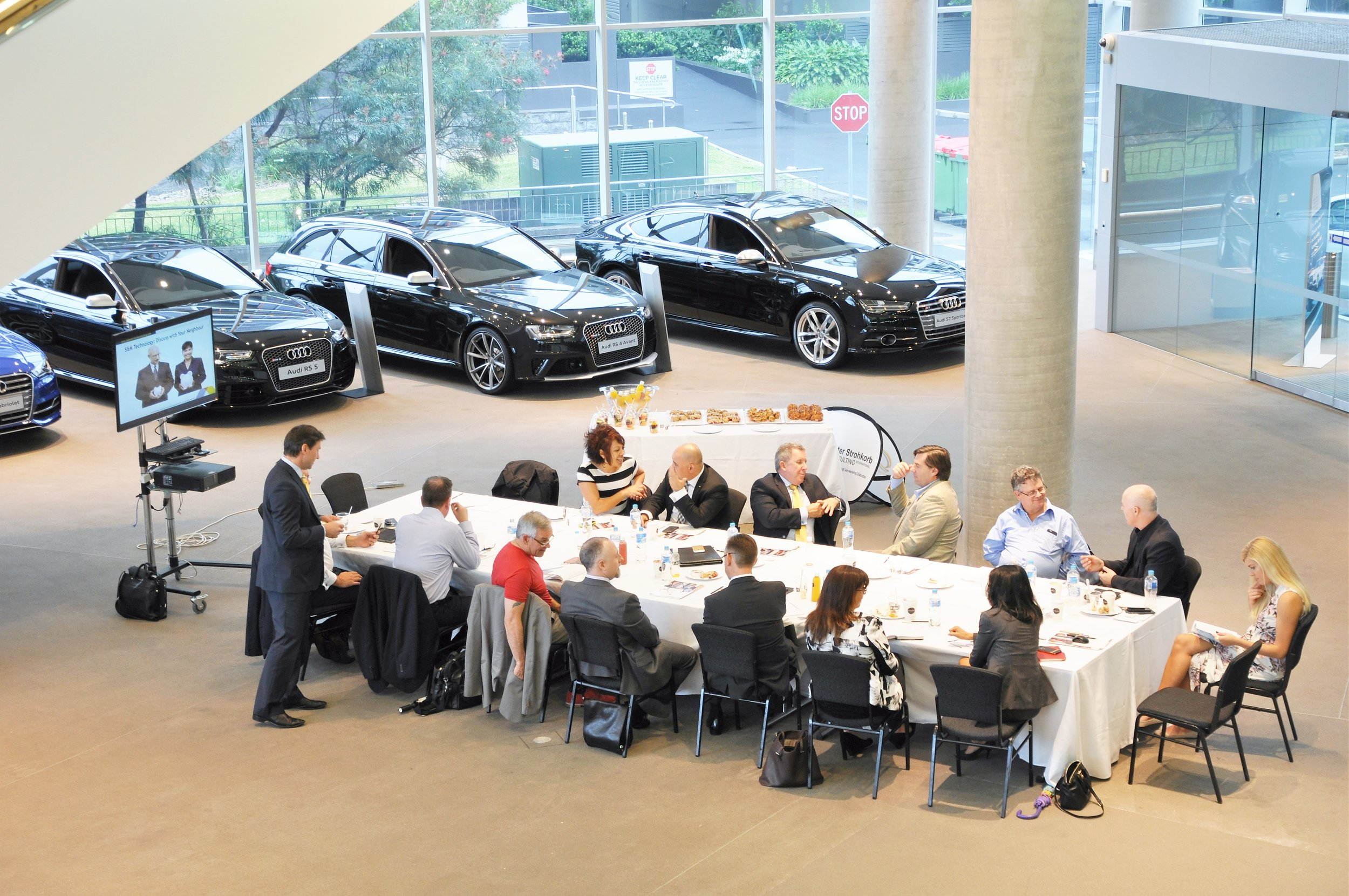 Peter Strohkorb conducts an executive workshop for a Luxury Car brand