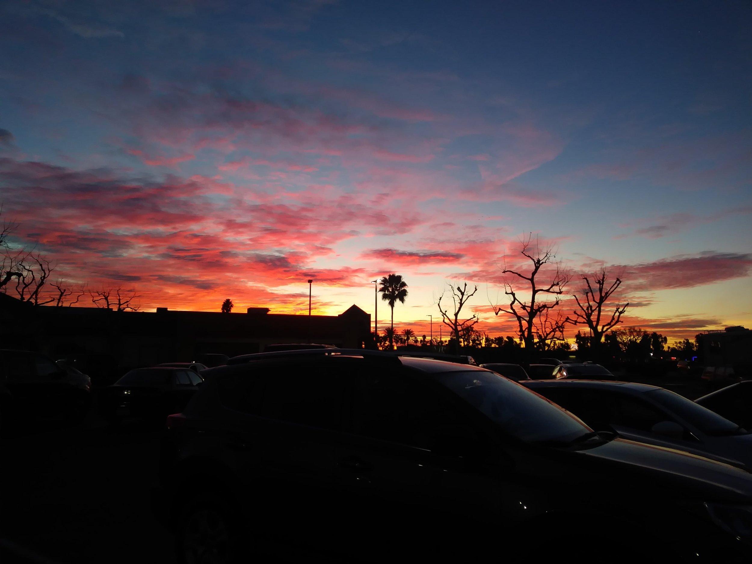 Sunday sunrise… why was I up?