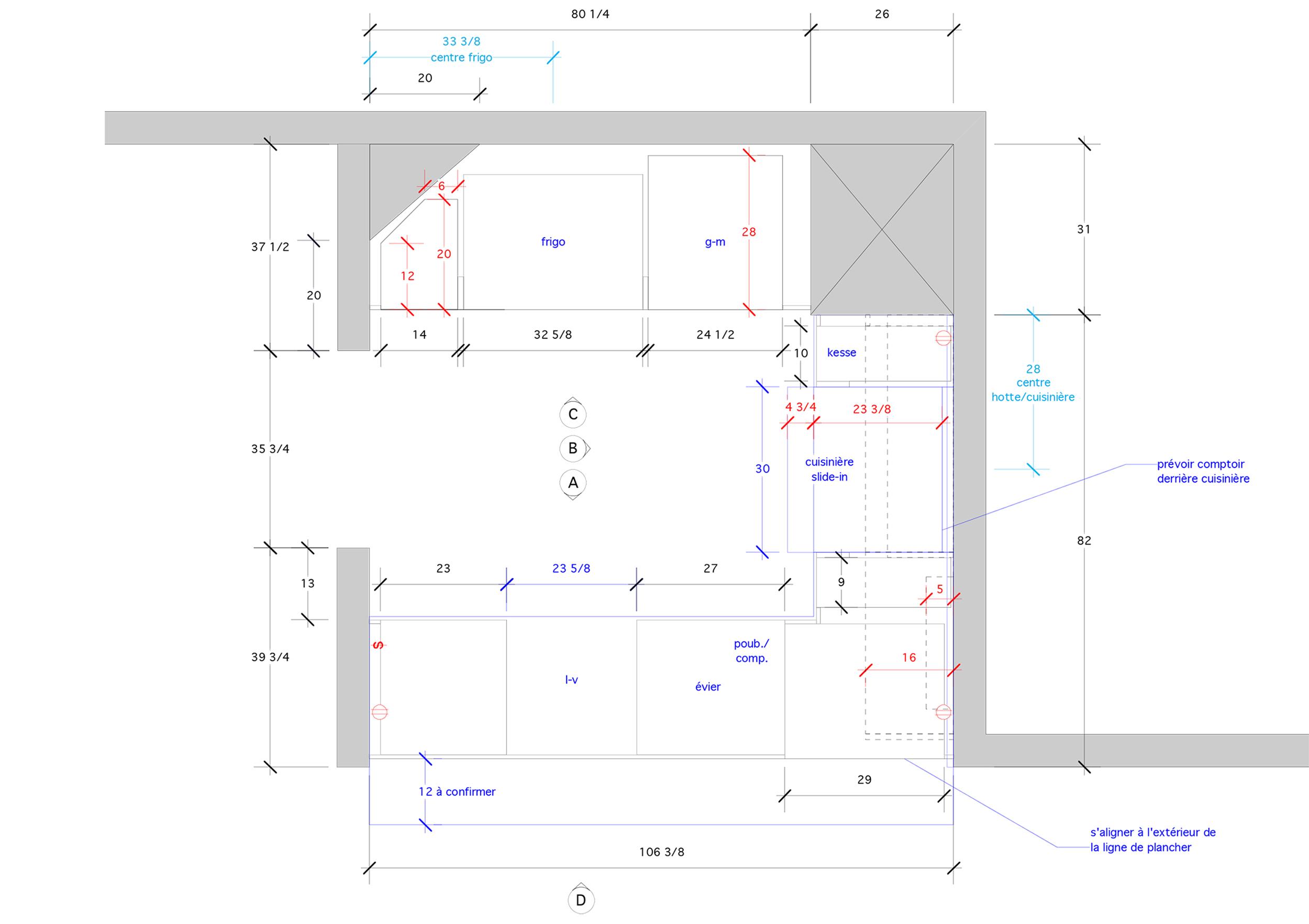 - Petite cuisine en U exiguë dans une maison classique montréalaise, un projet de rénovation pour égayer l'espace avec touche de vert qui personnalise la pièce. Un mur de laque blanche fonctionnel pour intégrer les électroménagers en toute discrétion et privilégier l'espace résiduel en zone de travail (cuisson et lavage) sans aucune obstruction.Matériaux: laque de polyuréthane verte et blanche avec 30% de lustre, tablette de placage d'orme - effet planche, dosseret & comptoir de marbre.