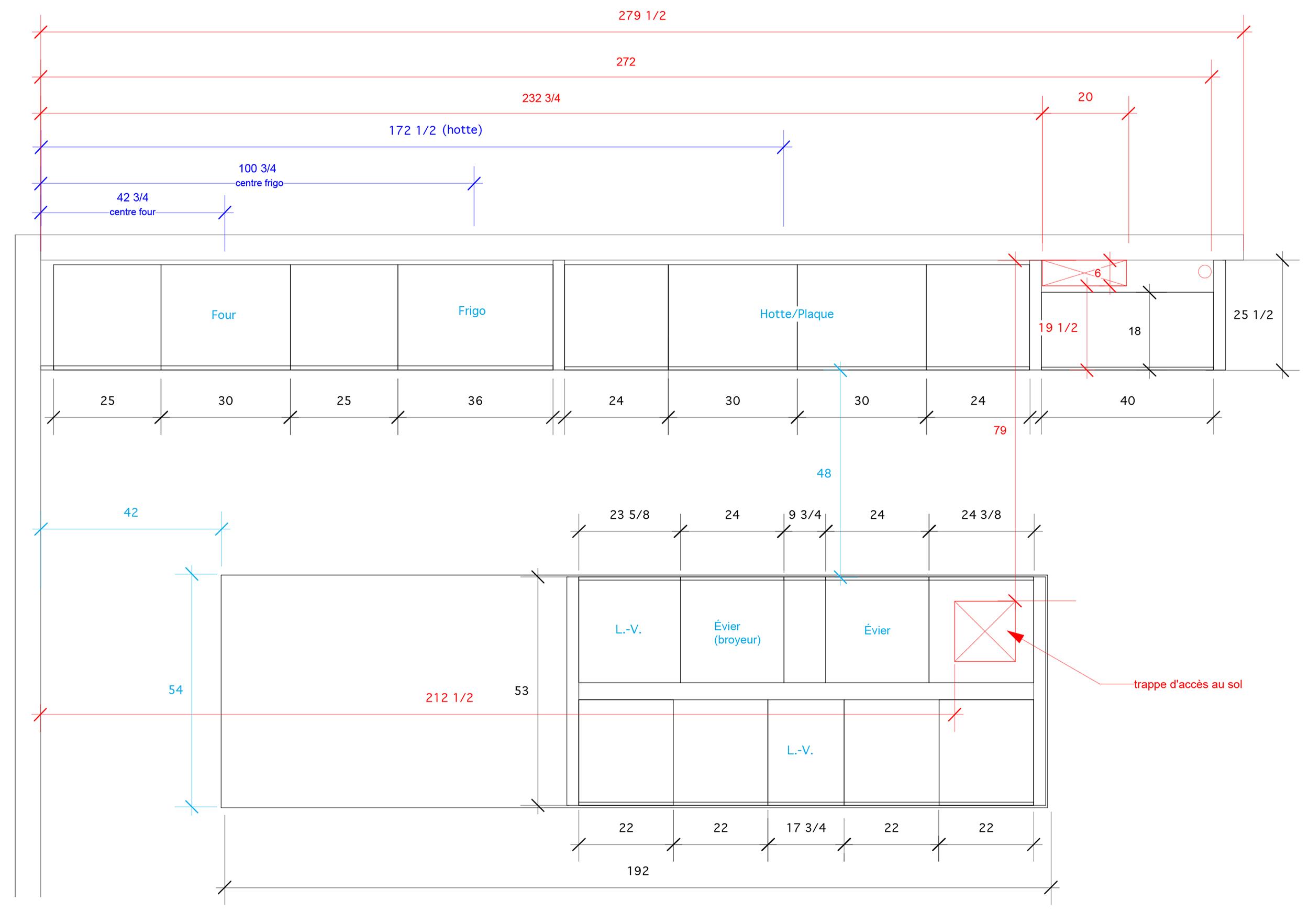 - Cette nouvelle construction de Saint-Lambert permit la réalisation de cette cuisine spectaculaire aux défis de taille en terme structural. Ornée d'un îlot d'acier inoxydable de 16' avec son porte-à-faux de 6 pieds, une structure d'acier rivé au plancher permet cet exploit pour créer cet effet flottant. Les façades de verre satinées viennent adoucir le côté brut de l'îlot et créer un espace convivial à l'épreuve du temps!Matériaux: façade de verre noire satinée , laque blanche polyuréthane 30% de lustre, placage de noyer noir effet planche, comptoir & niche en acier inoxydable.