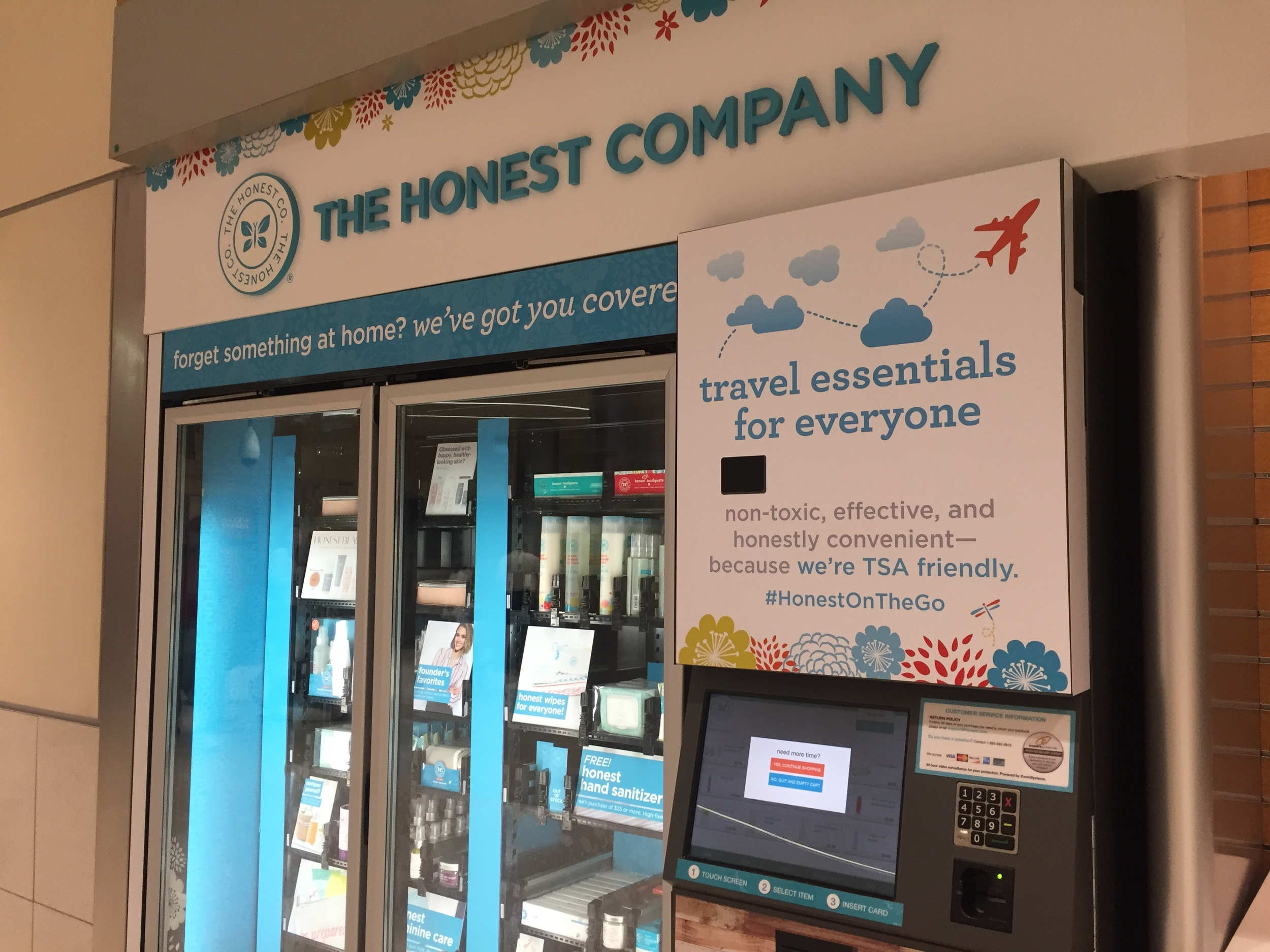 The Honest Company kiosk at ATL