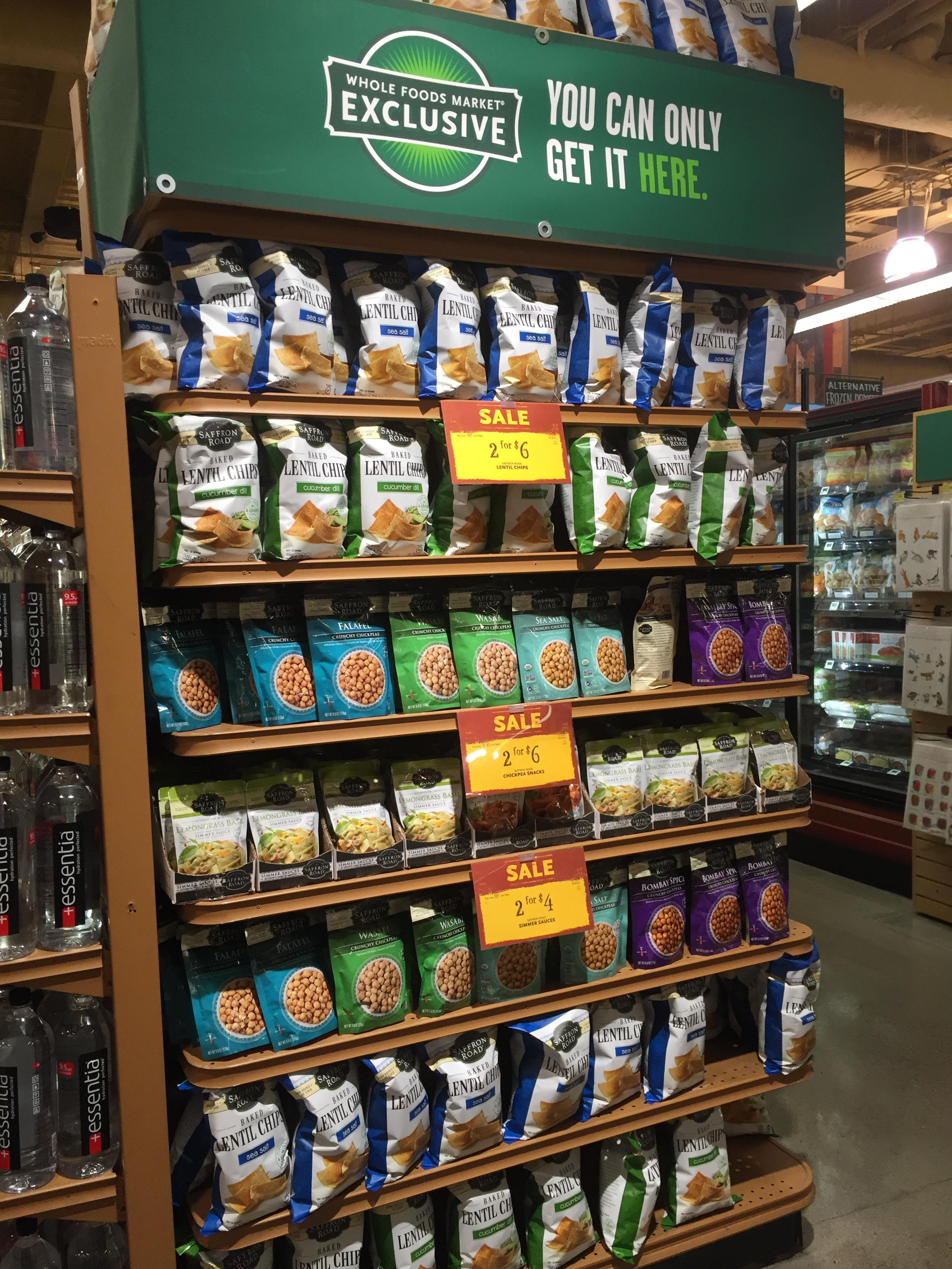 End cap featuring a sale on our client  Saffron Road ; one of our most favorite brands! If you don't already know their tremendous success story, look them up.