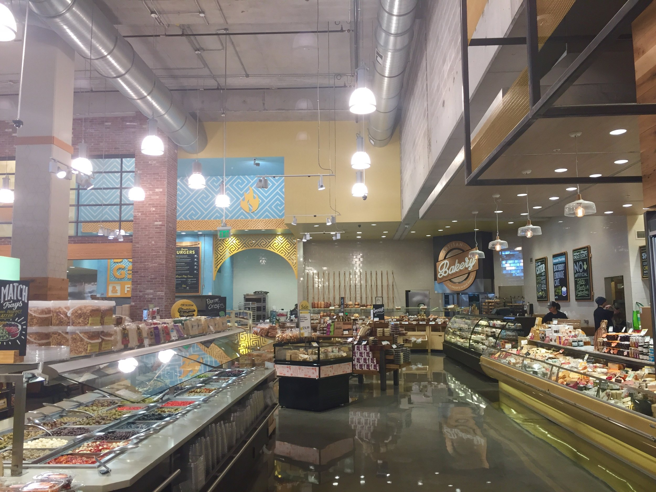 big bakery and cheese sections