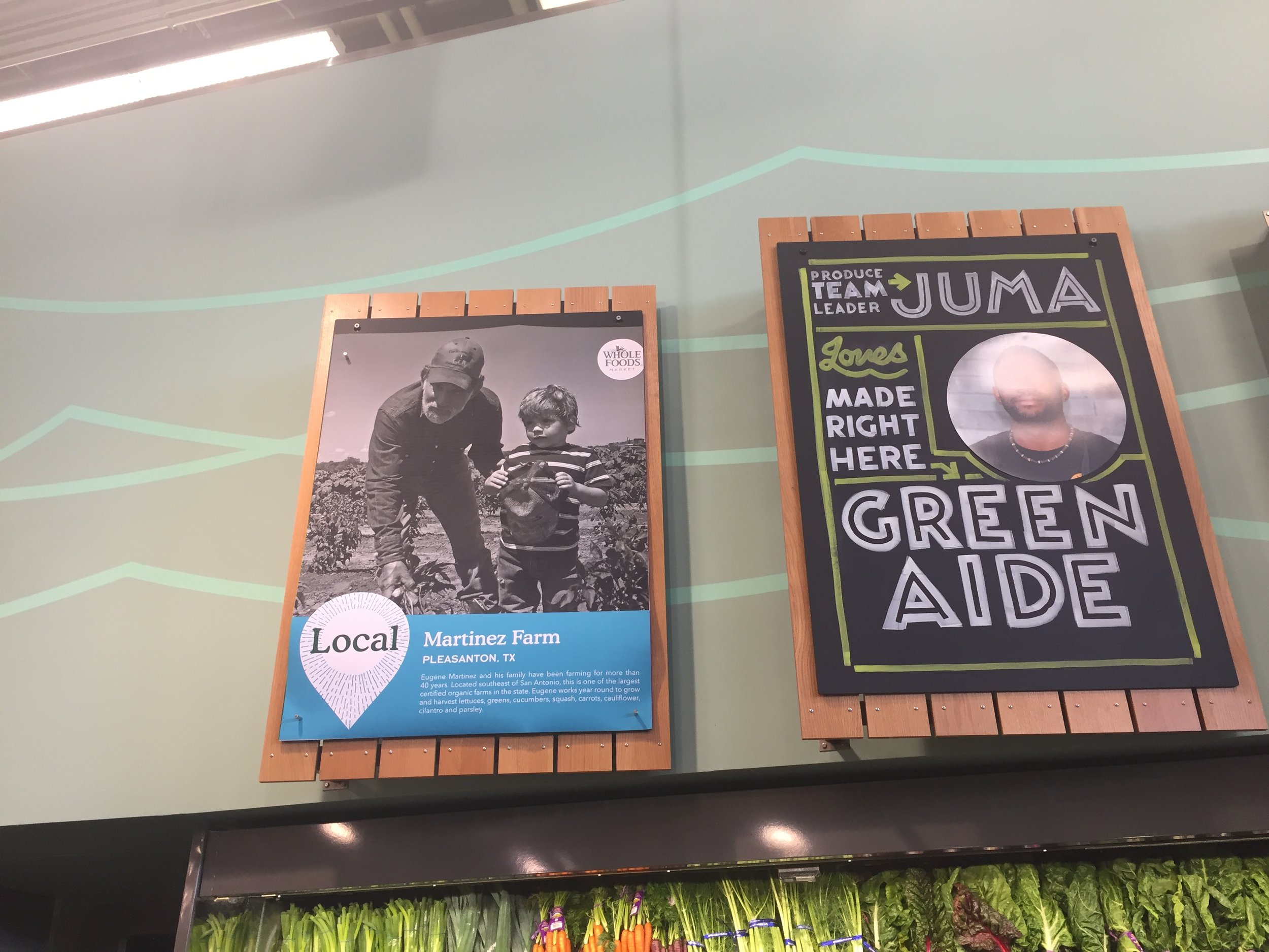 love that farmers are showcased so shoppers can see where their food comes from