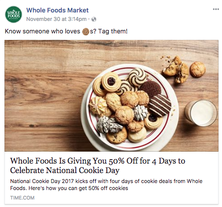 #NationalCookieDay post from facebook.com/wholefoods