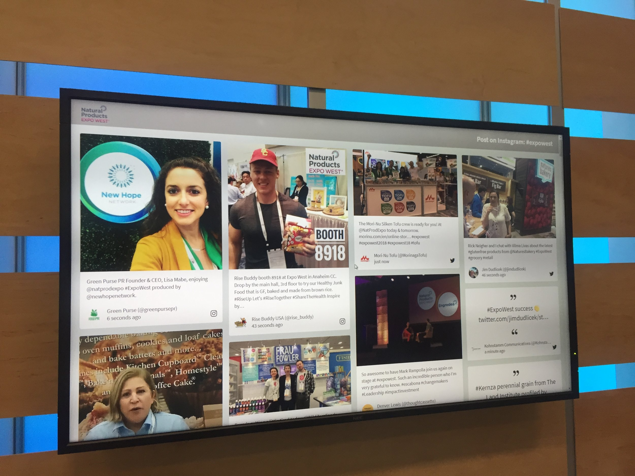 Made the social media visualizer board at Expo West.