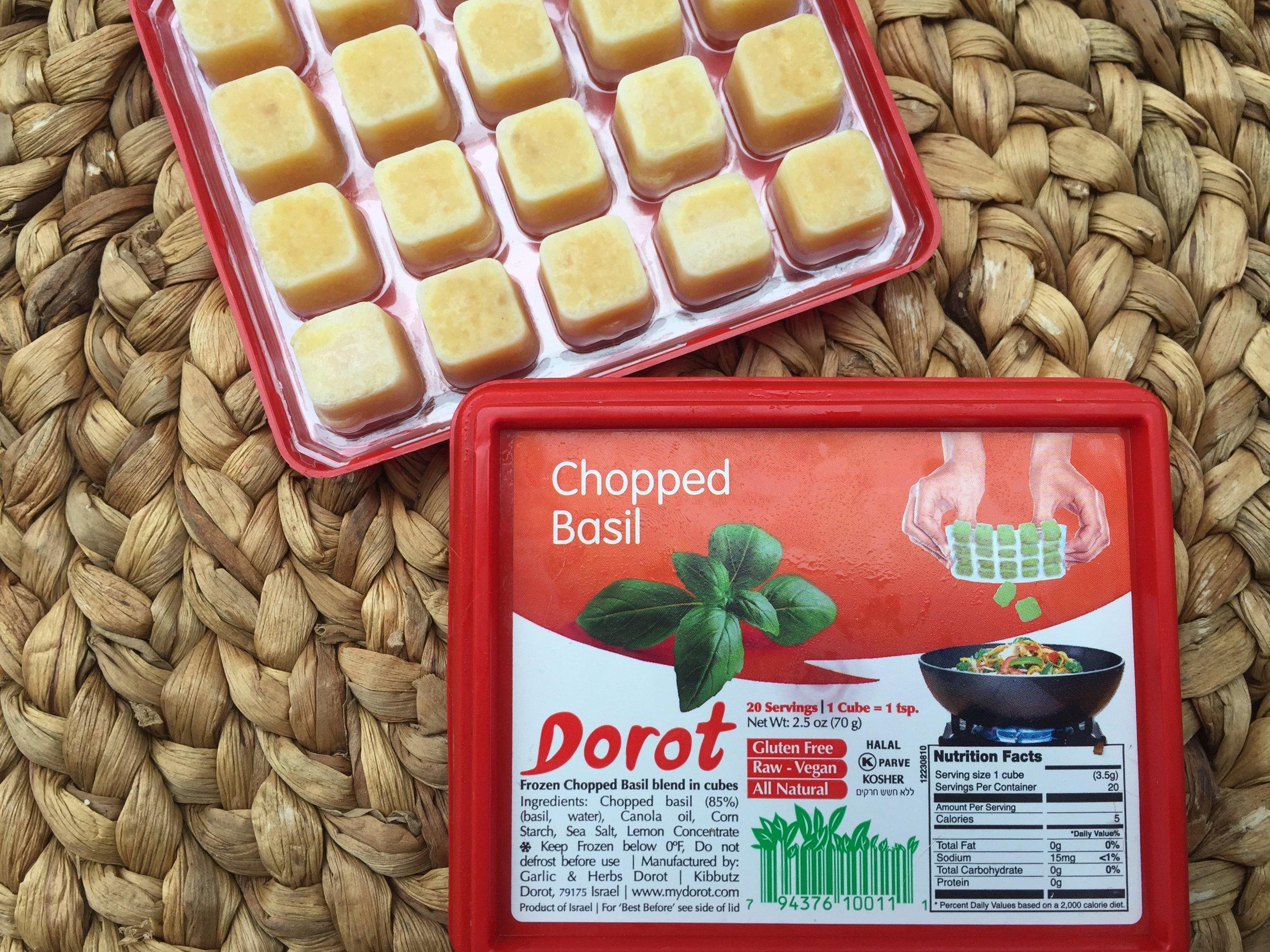 Dorot chopped basil cubes