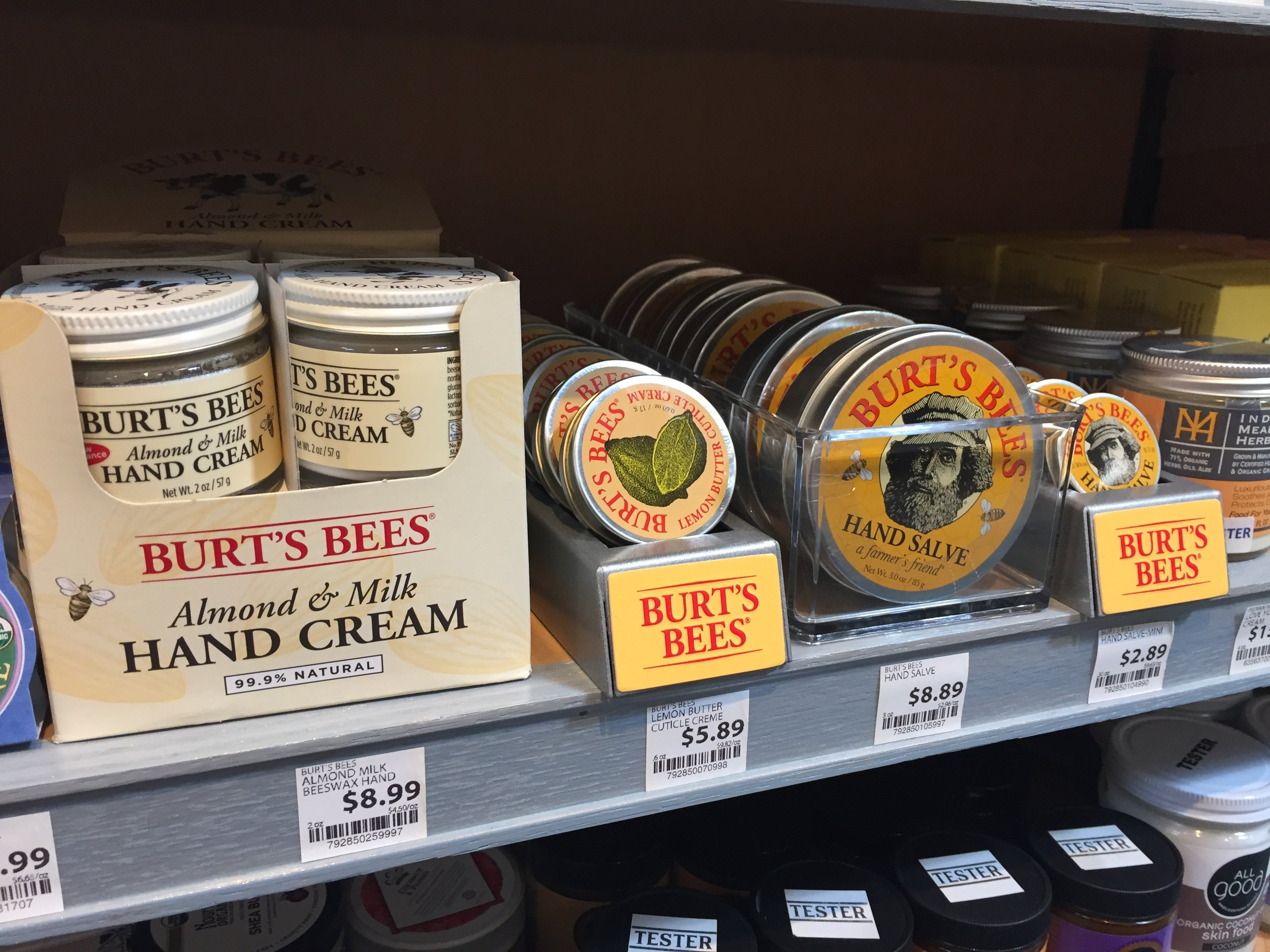 Burt's Bees (from my home state of North Carolina.)